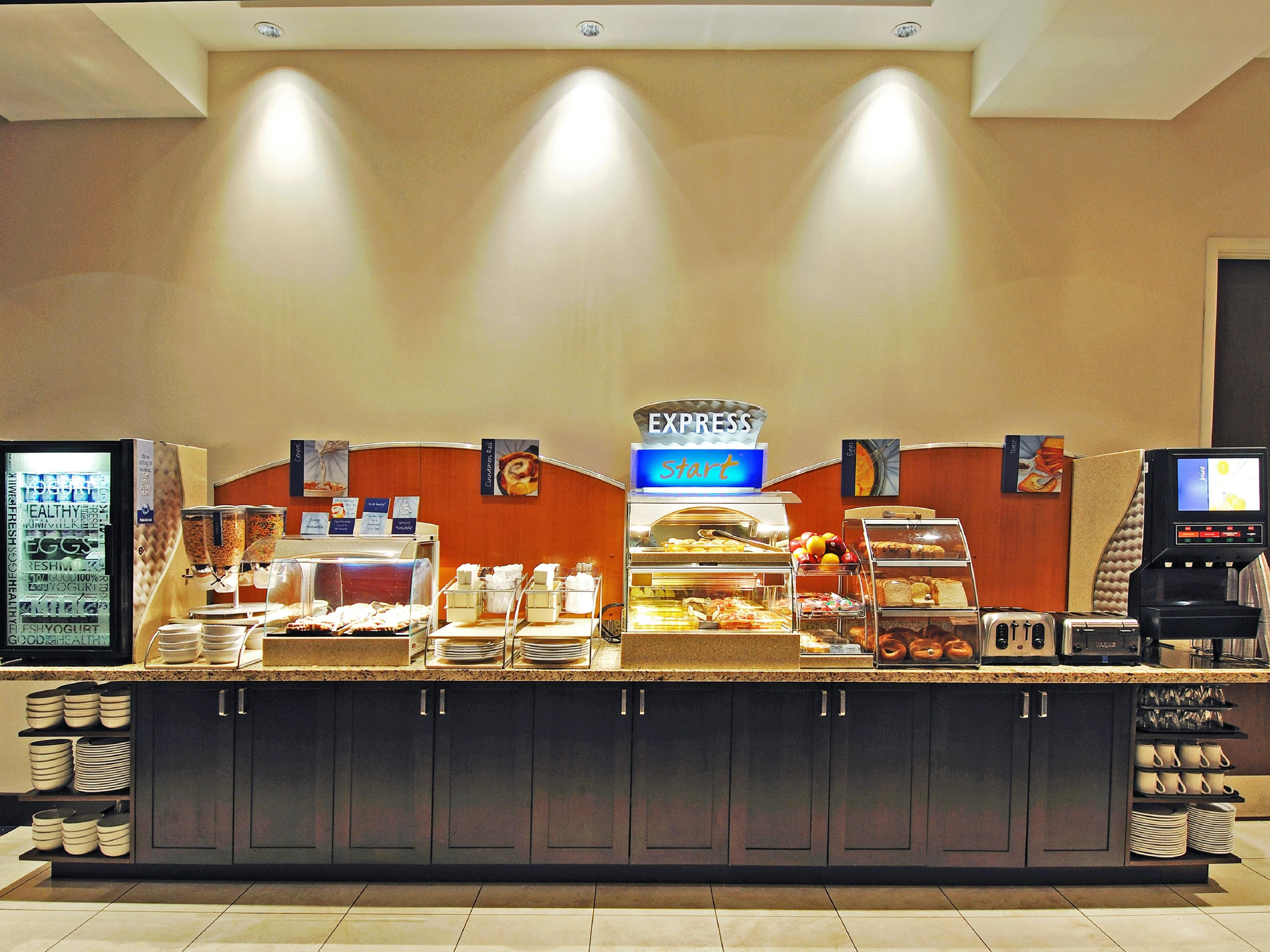 Express Start Breakfast Bar serves a delicious start to your day
