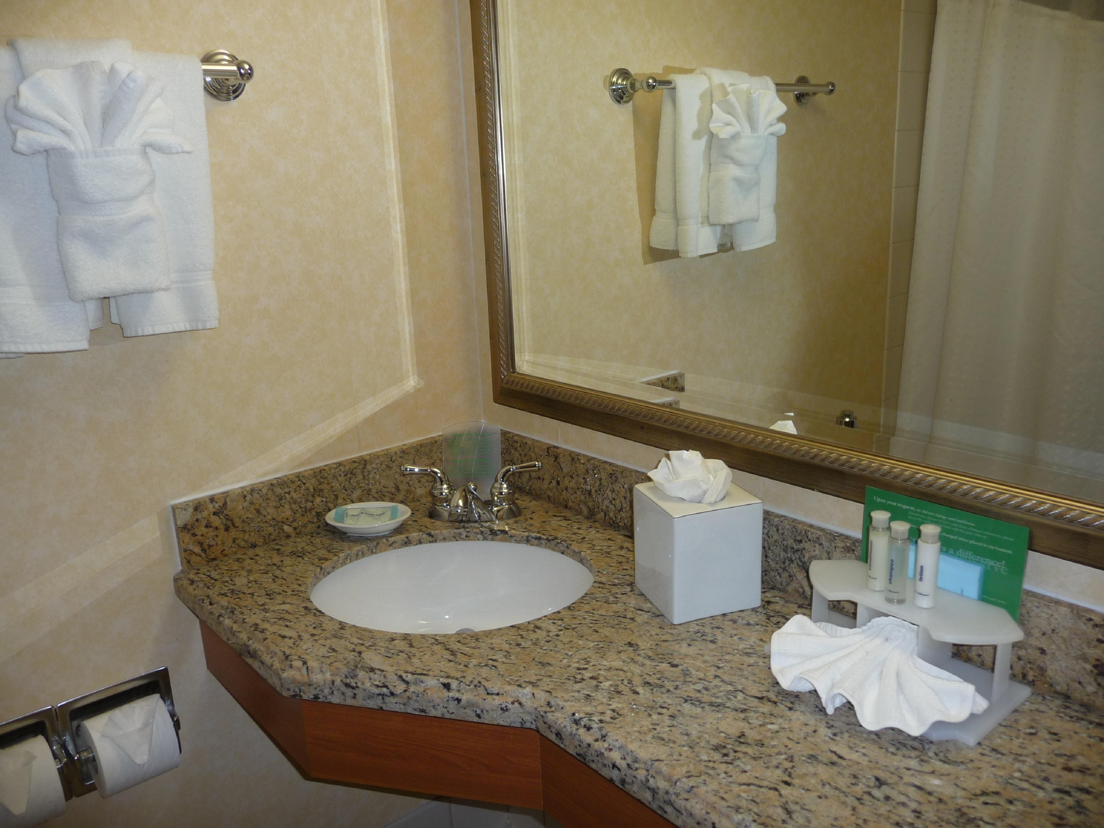 Holiday Inn Express Standard Guest Bathroom with granite vanity