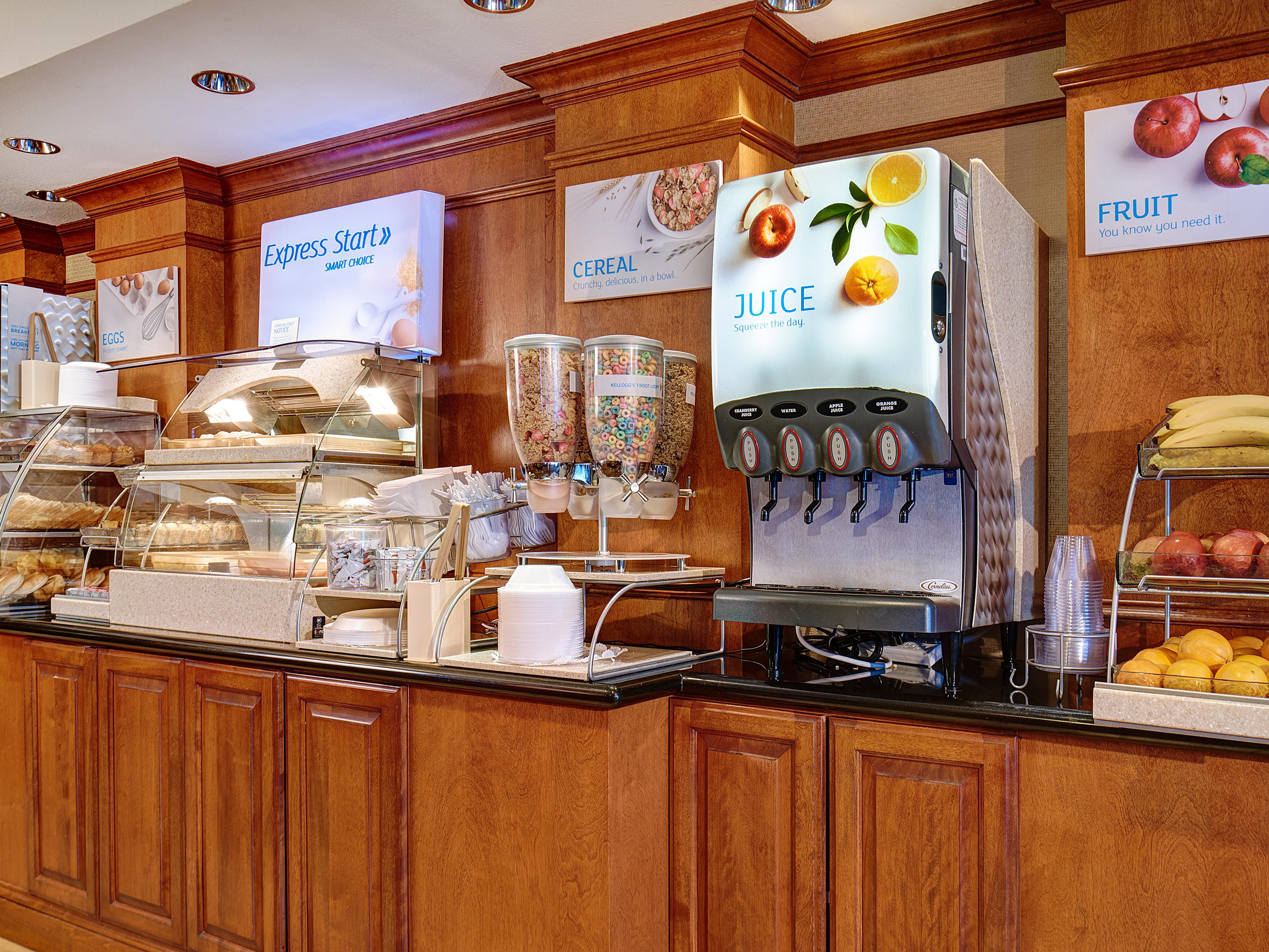 Enjoy our Express Start Breakfast with hot and cold options.