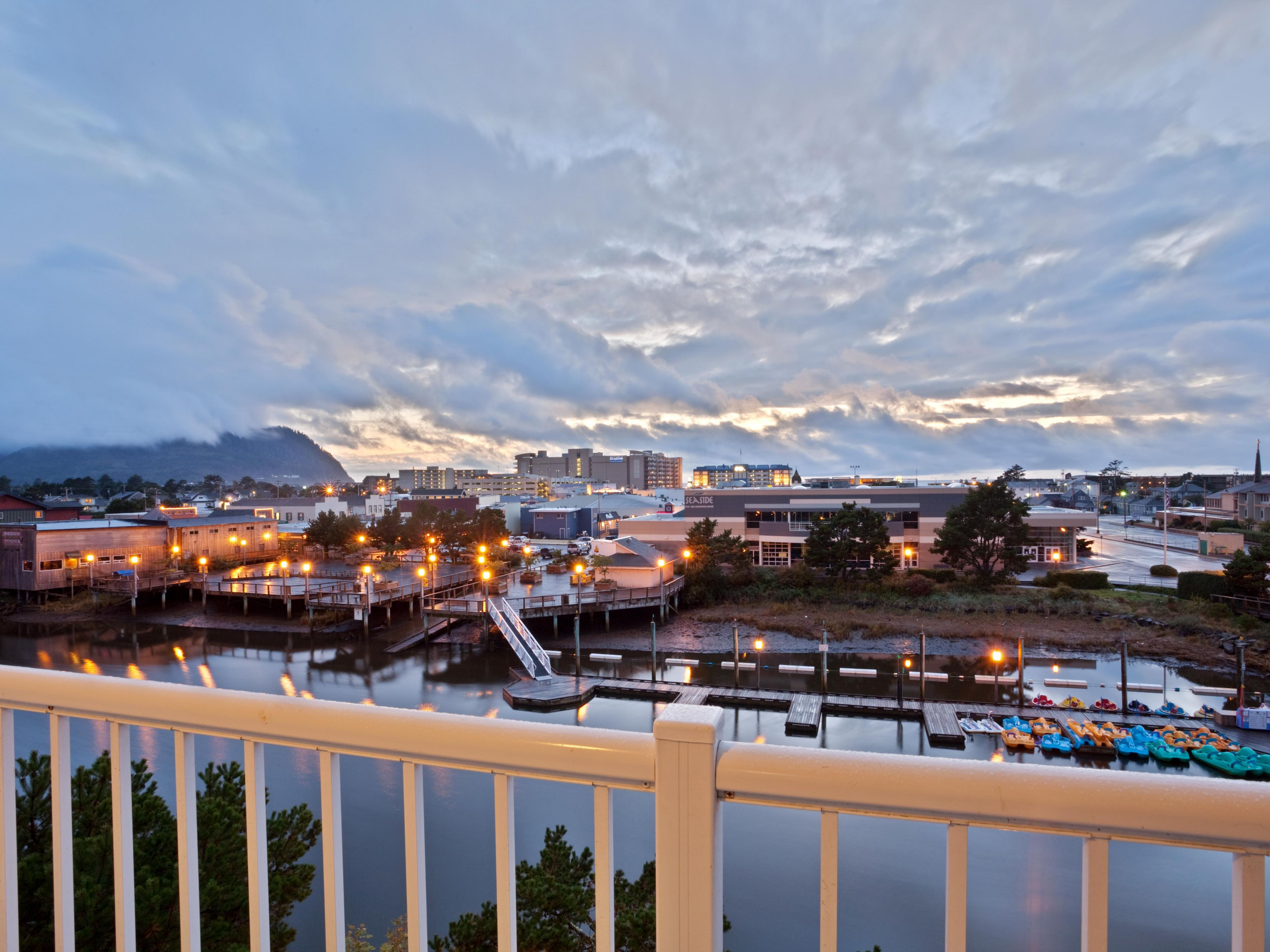 Ask for a riverview room and enjoy a relaxing sunset.