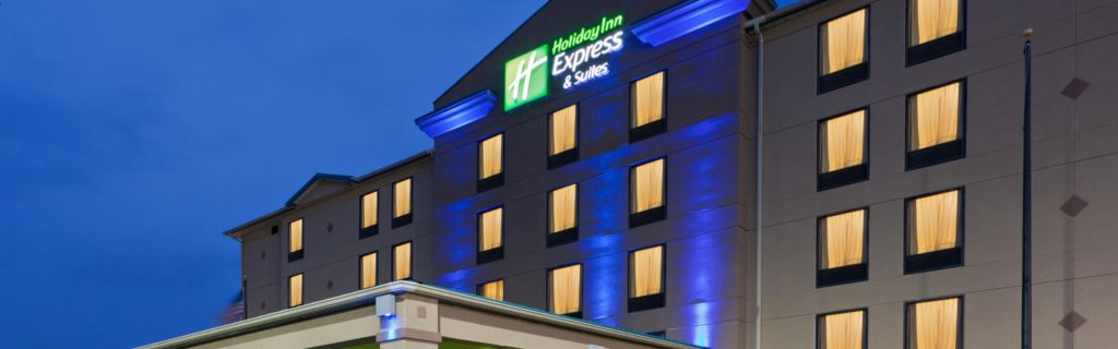 Holiday Inn Express Suites Has A Well Lit Area To Welcome