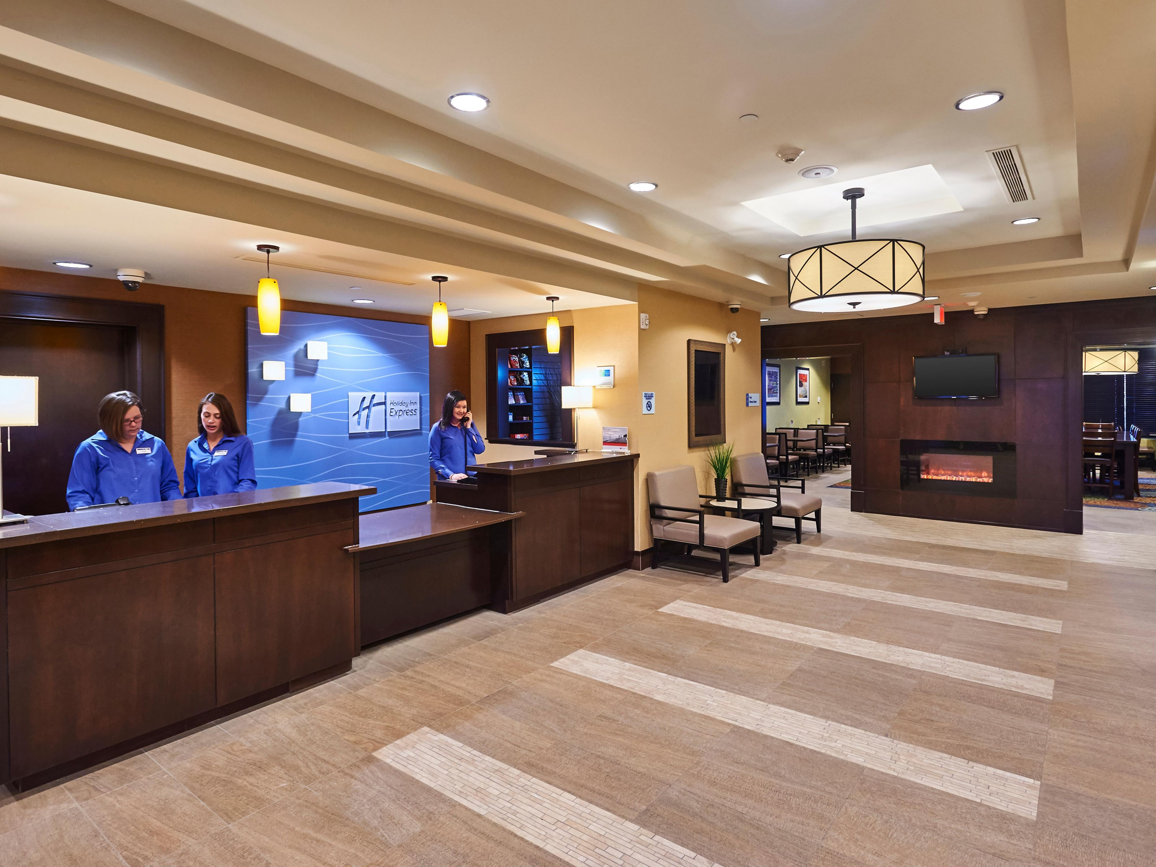 Meet friends and colleagues in our warm inviting lobby