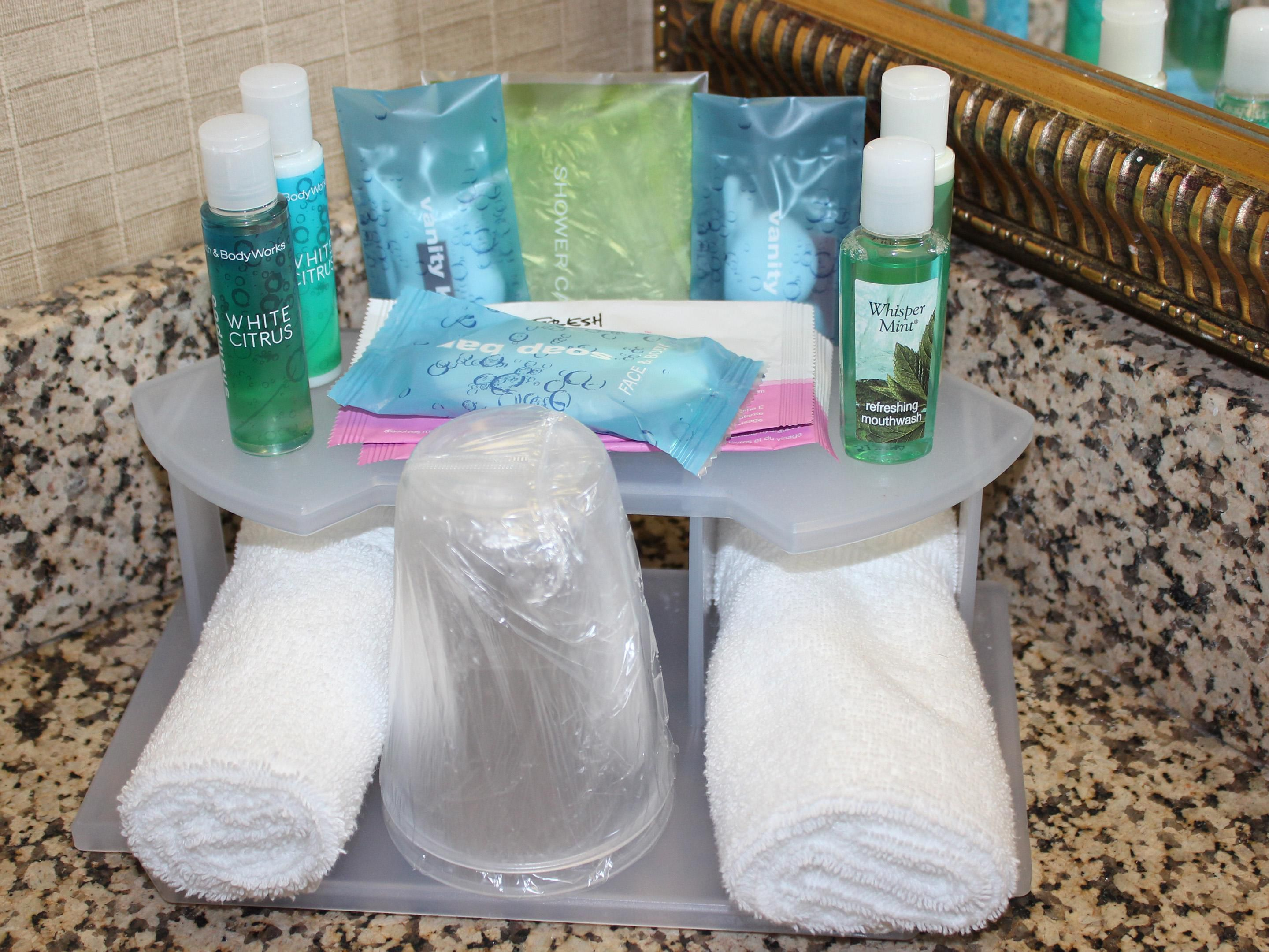 Our Bath and Body Amenities were selected just for you!