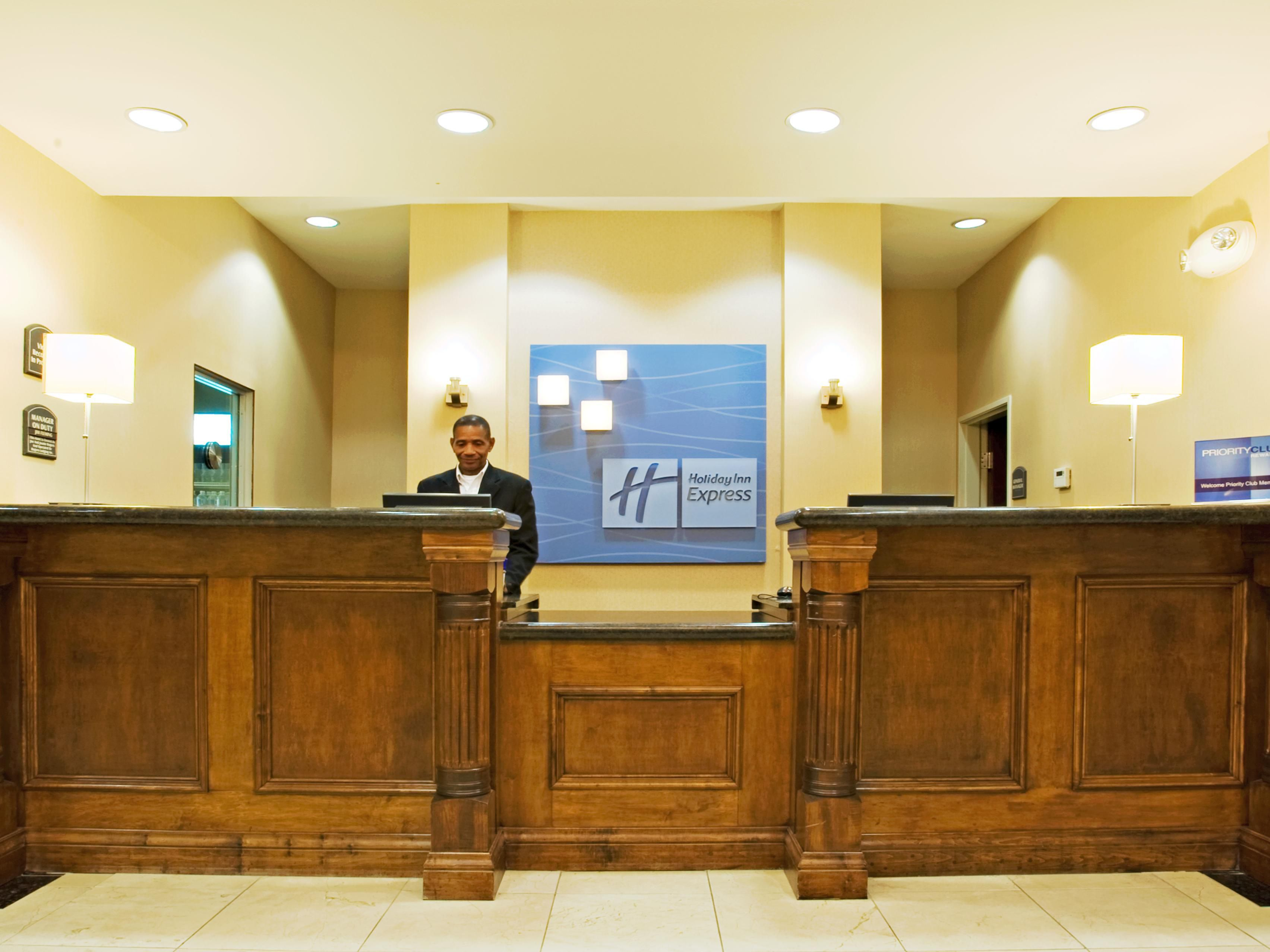 Expect a warm friendly Texas welcome at our front desk.
