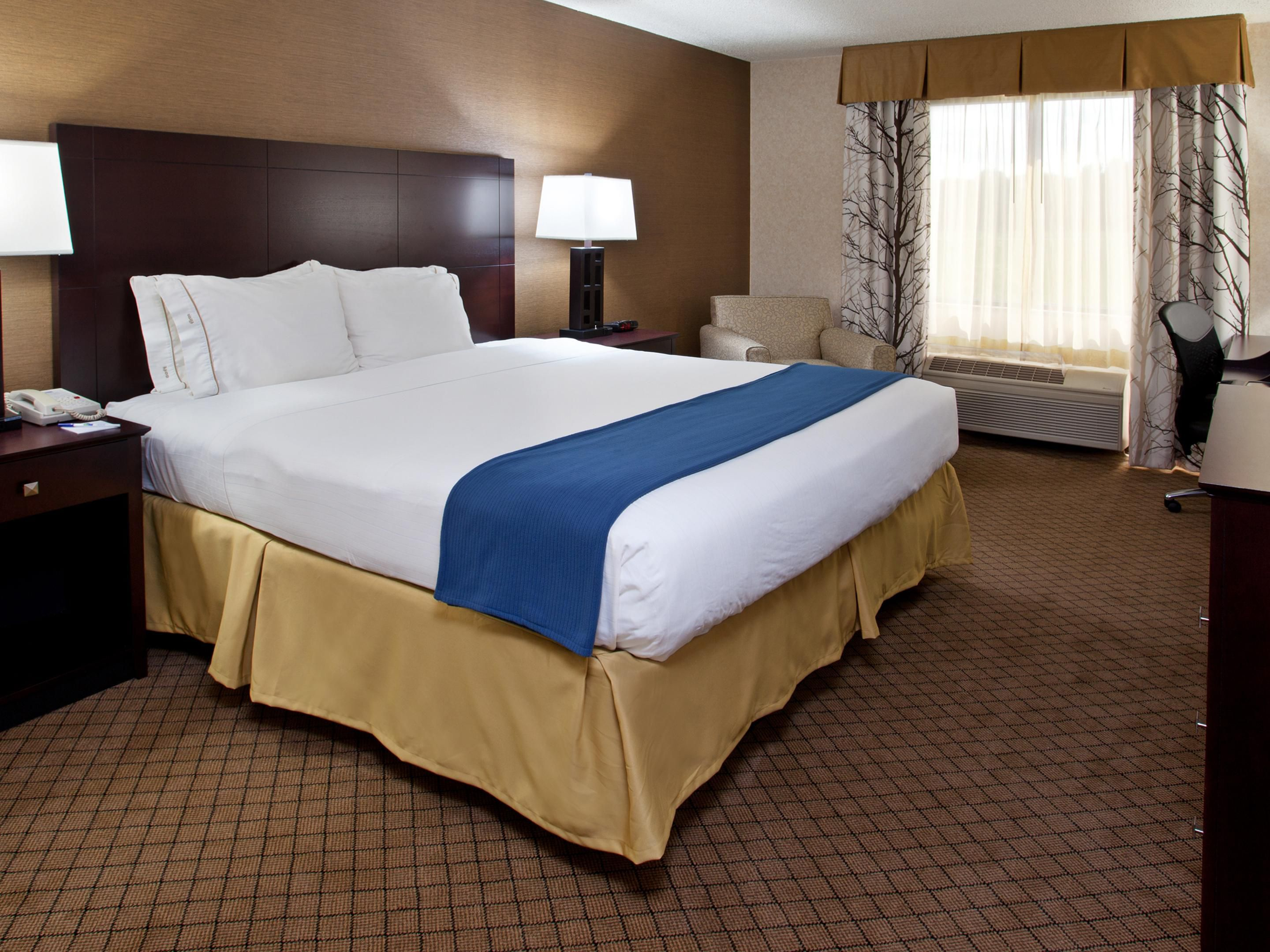 Holiday Inn Express Wadsworth One King Bed Guest Room