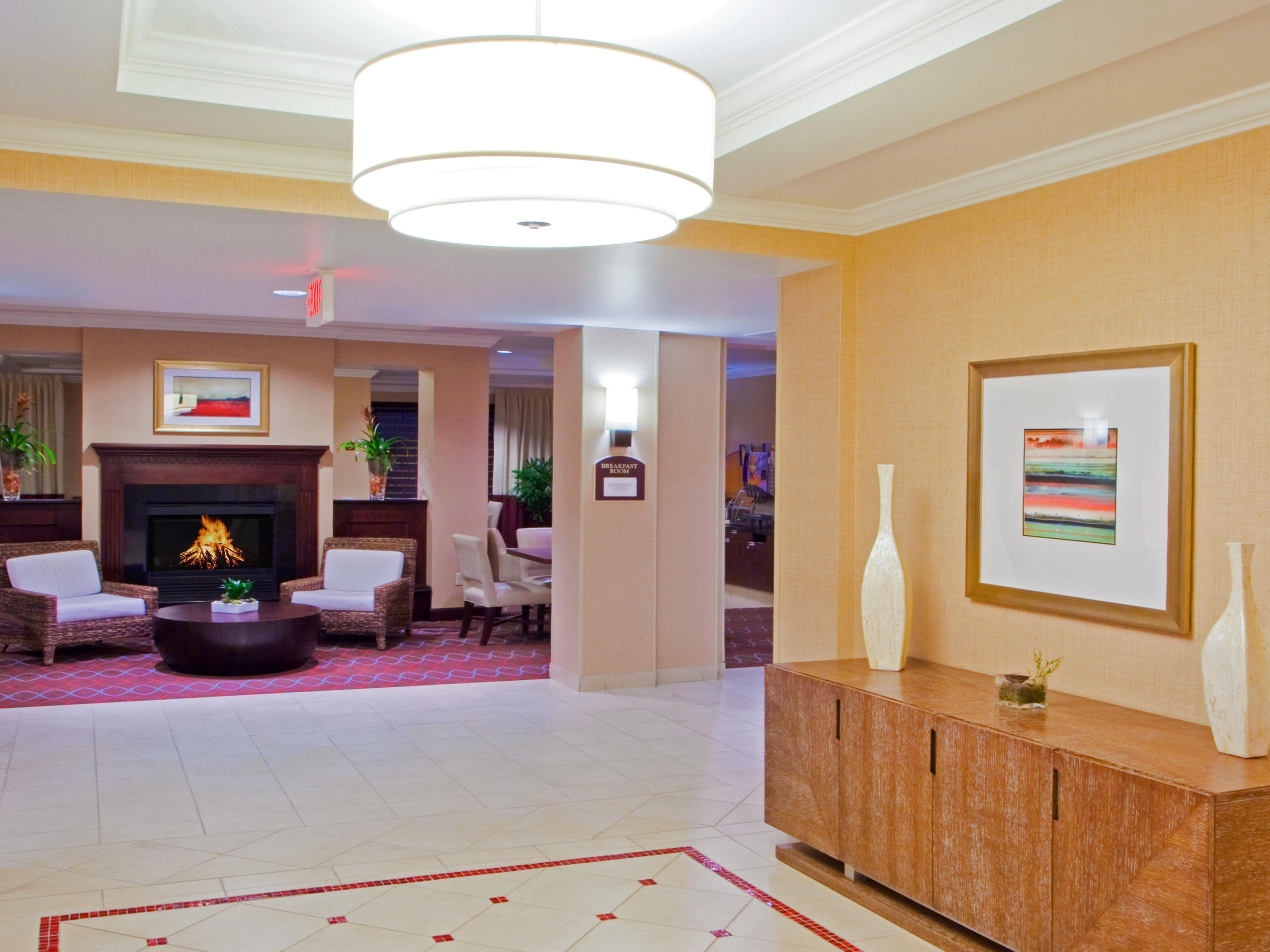 Warm and Inviting Hotel Lobby Welcome Area