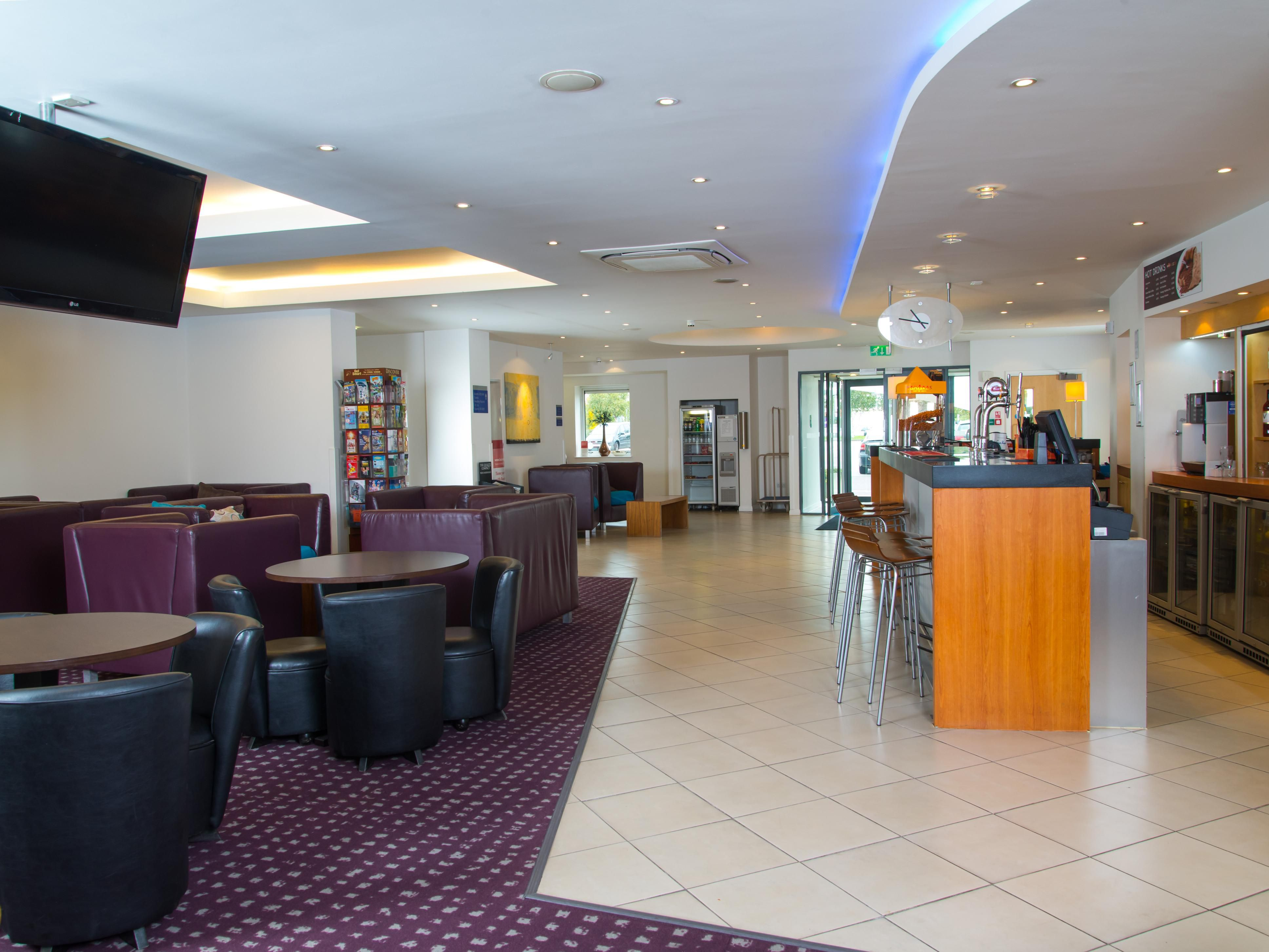 Catch up with the latest news on our widescreen TVs in our lobby