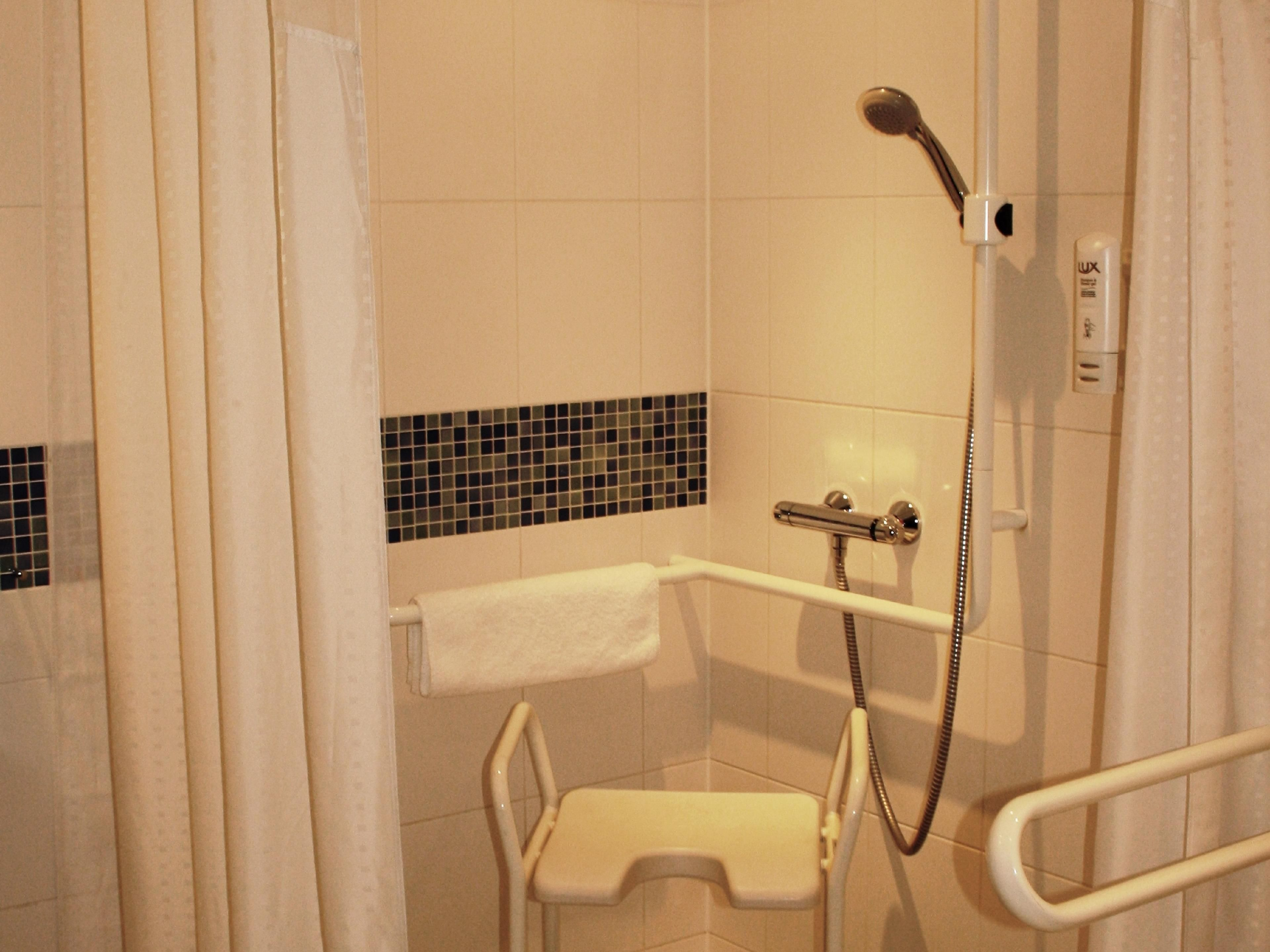 Guest Bathroom with Shower- Wheelchair accessible