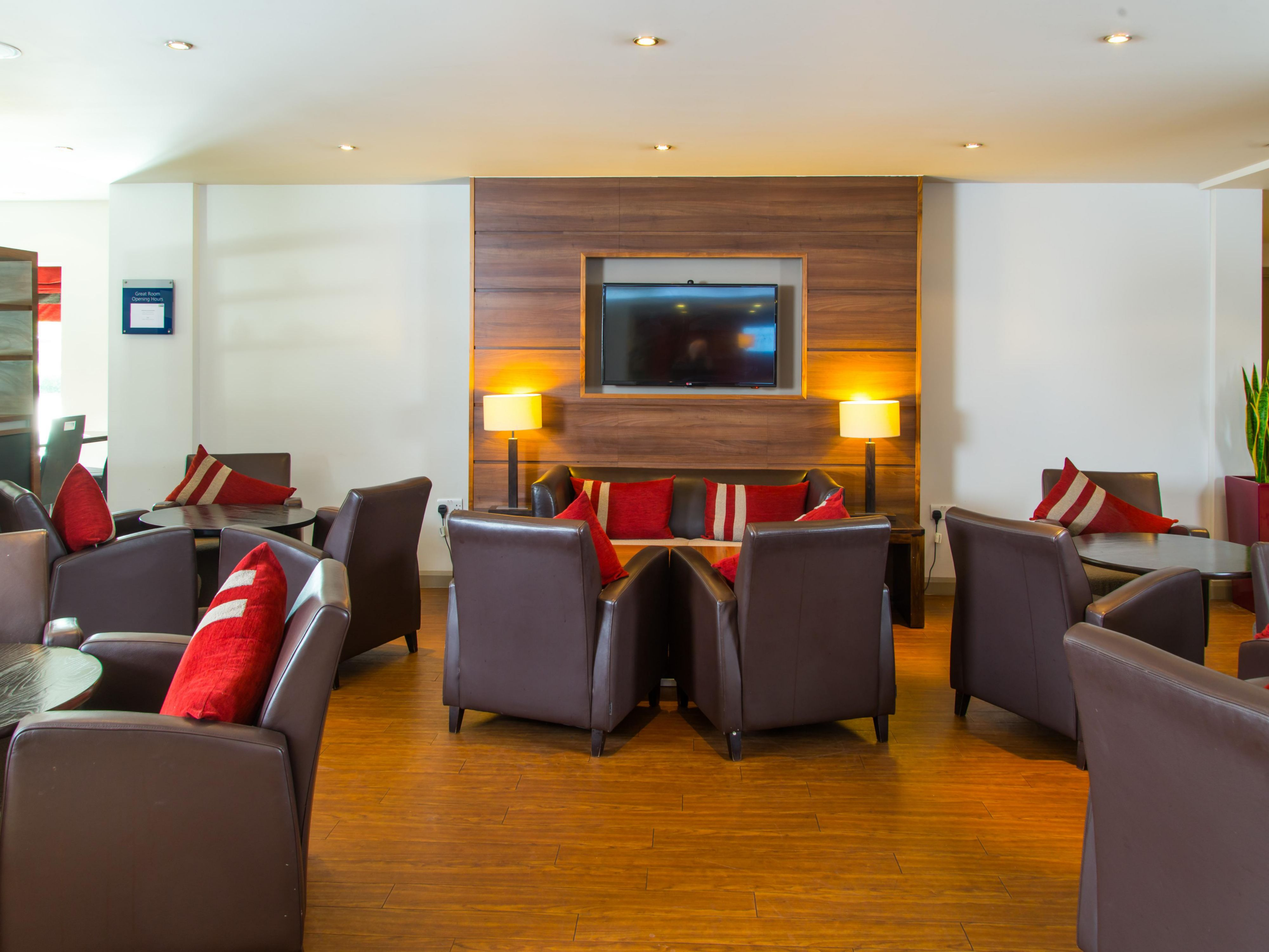Make yourself at home in our comfortable Great Room