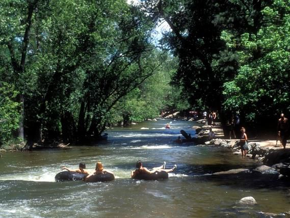 Pick up an inner tube and drift down Boulder Creek.