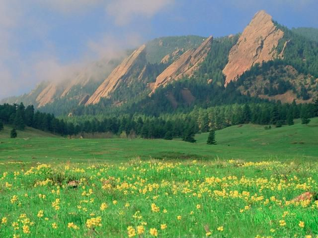 Boulder Colorado Flatirons.  Ideal for an afternoon hike or climb