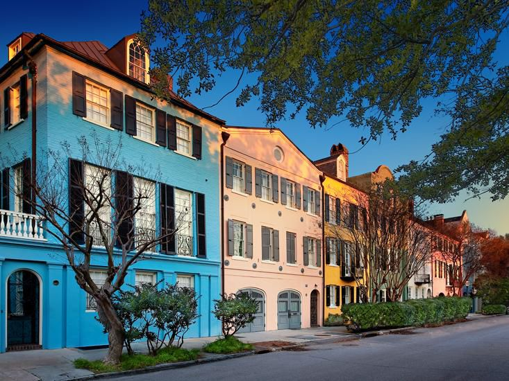 Historic Charleston and Rainbow Row