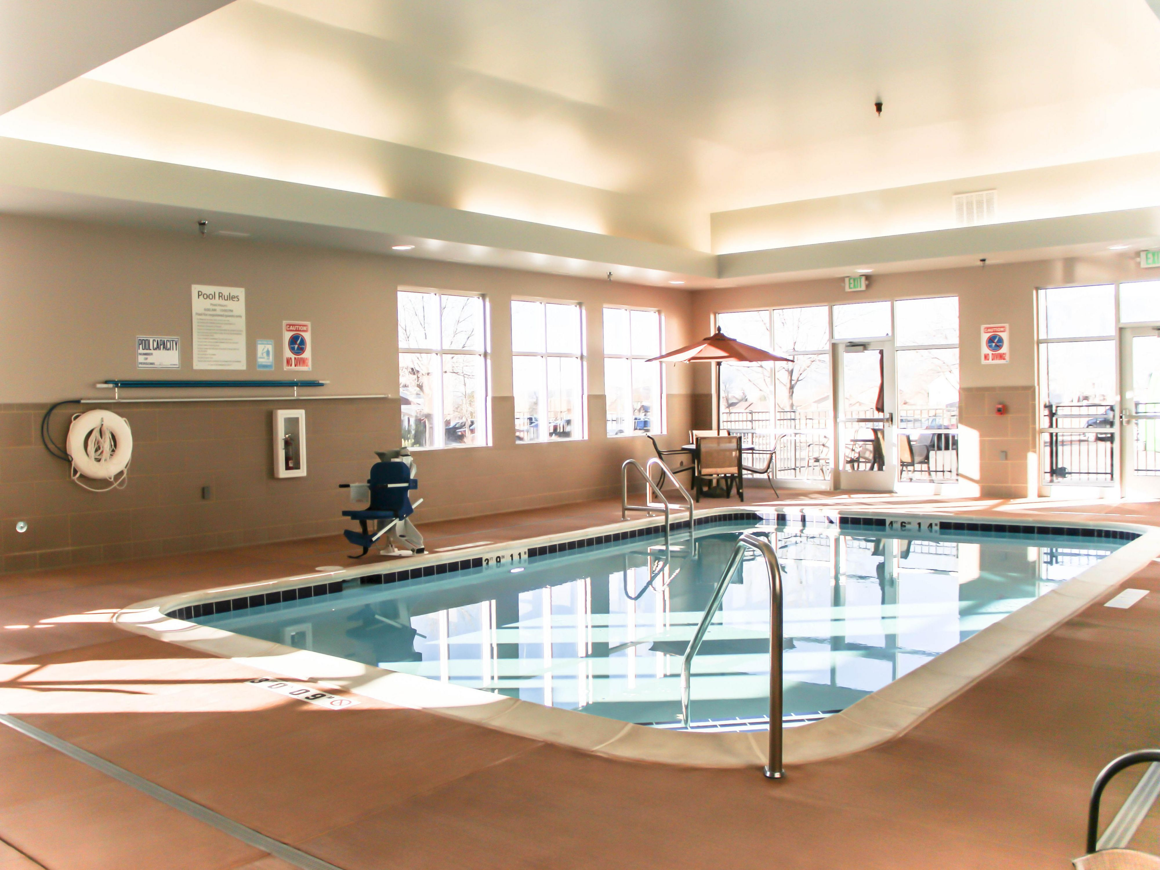 An indoor heated swimming pool