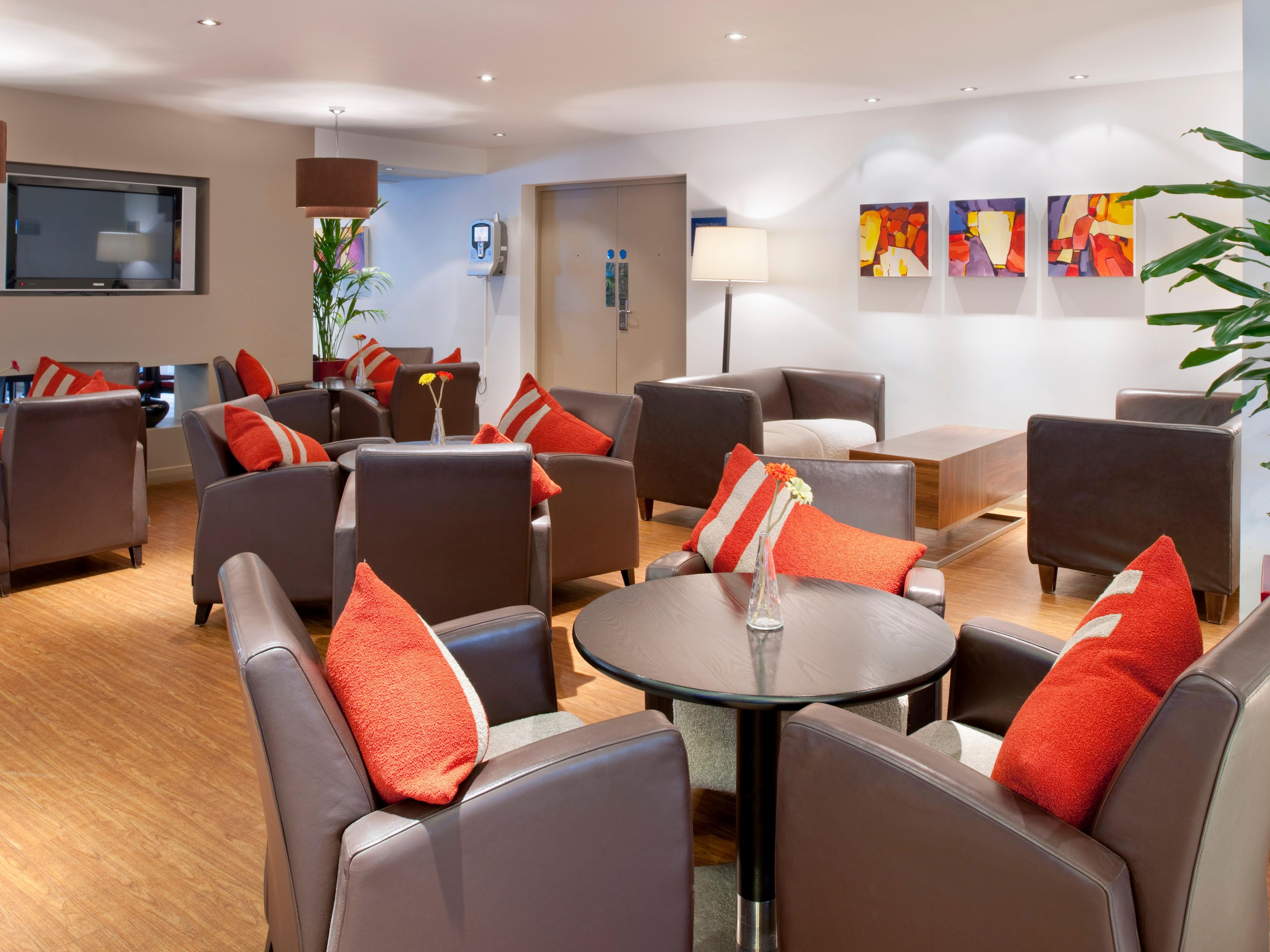 Catch up with friends in the modern surroundings of our Great Room