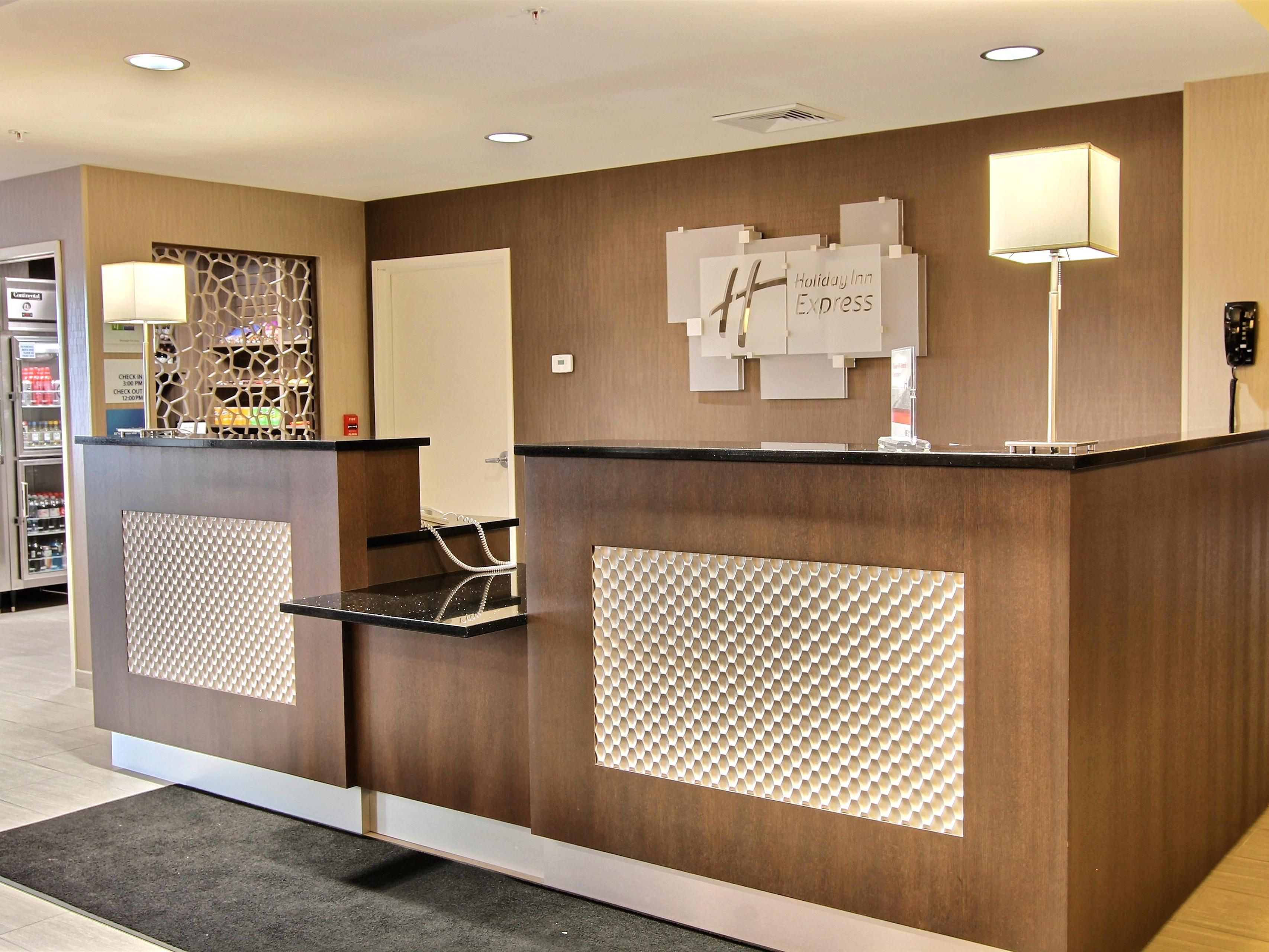 Check into your home away from home at our front desk.