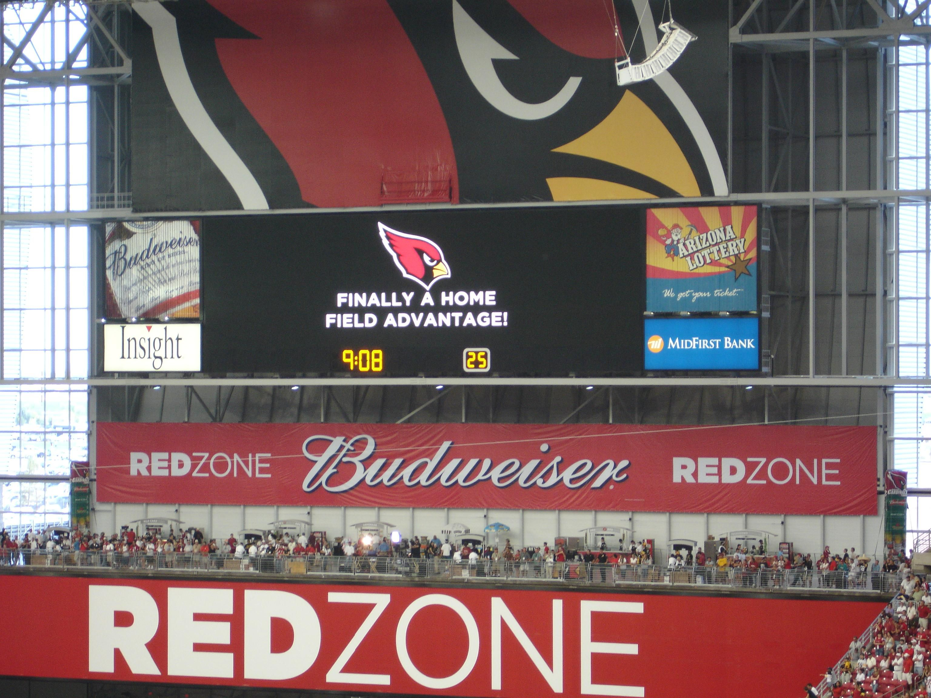 Check out the RED ZONE at University of Phx Stadium