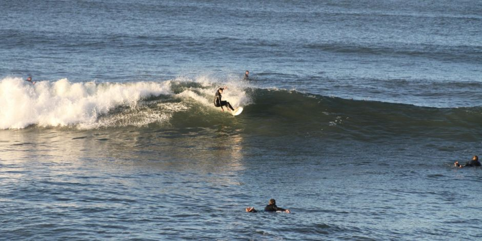 Surfing At Pismo Beach