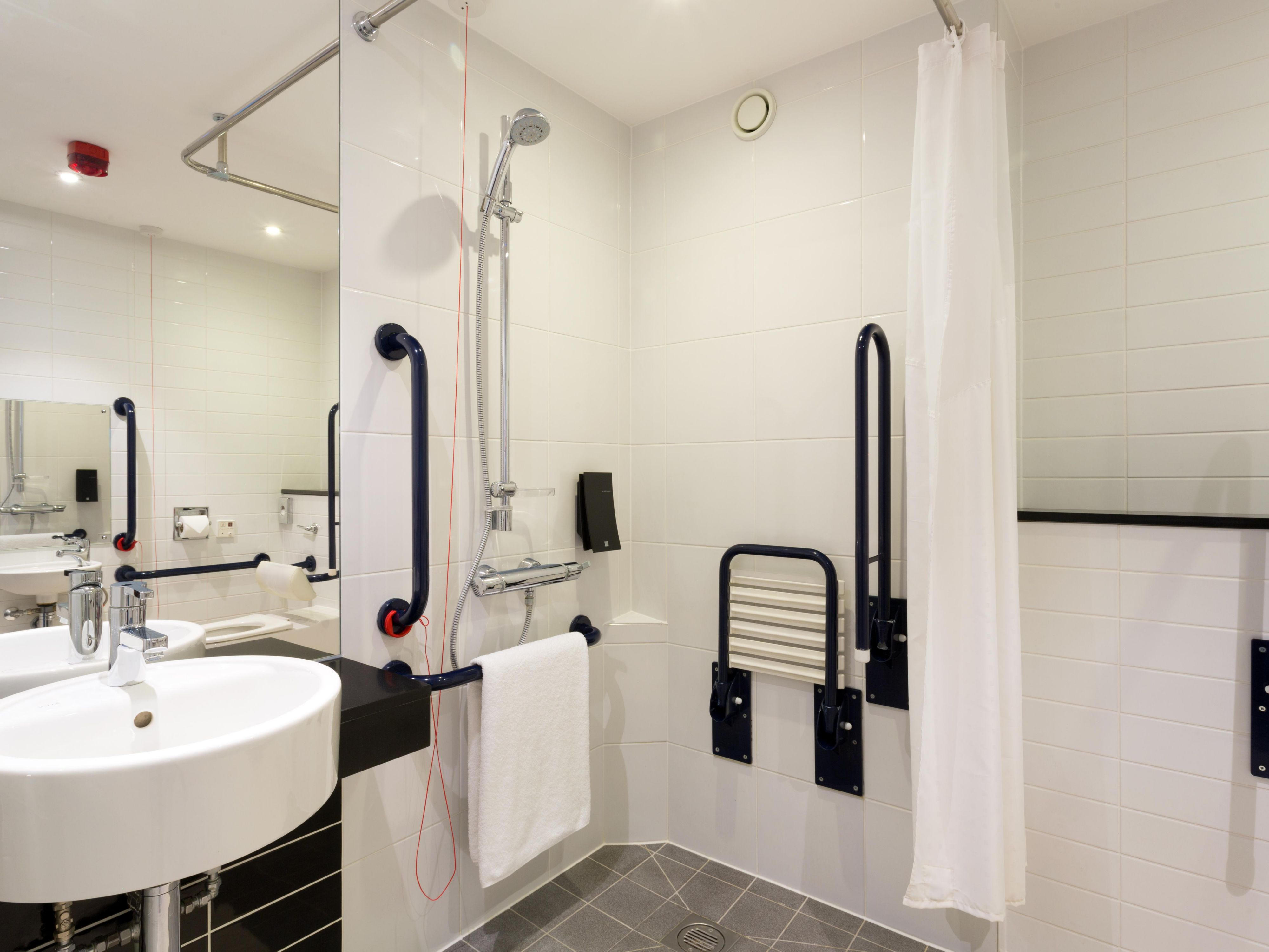 Modern Wheelchair Accessible Roll In Shower