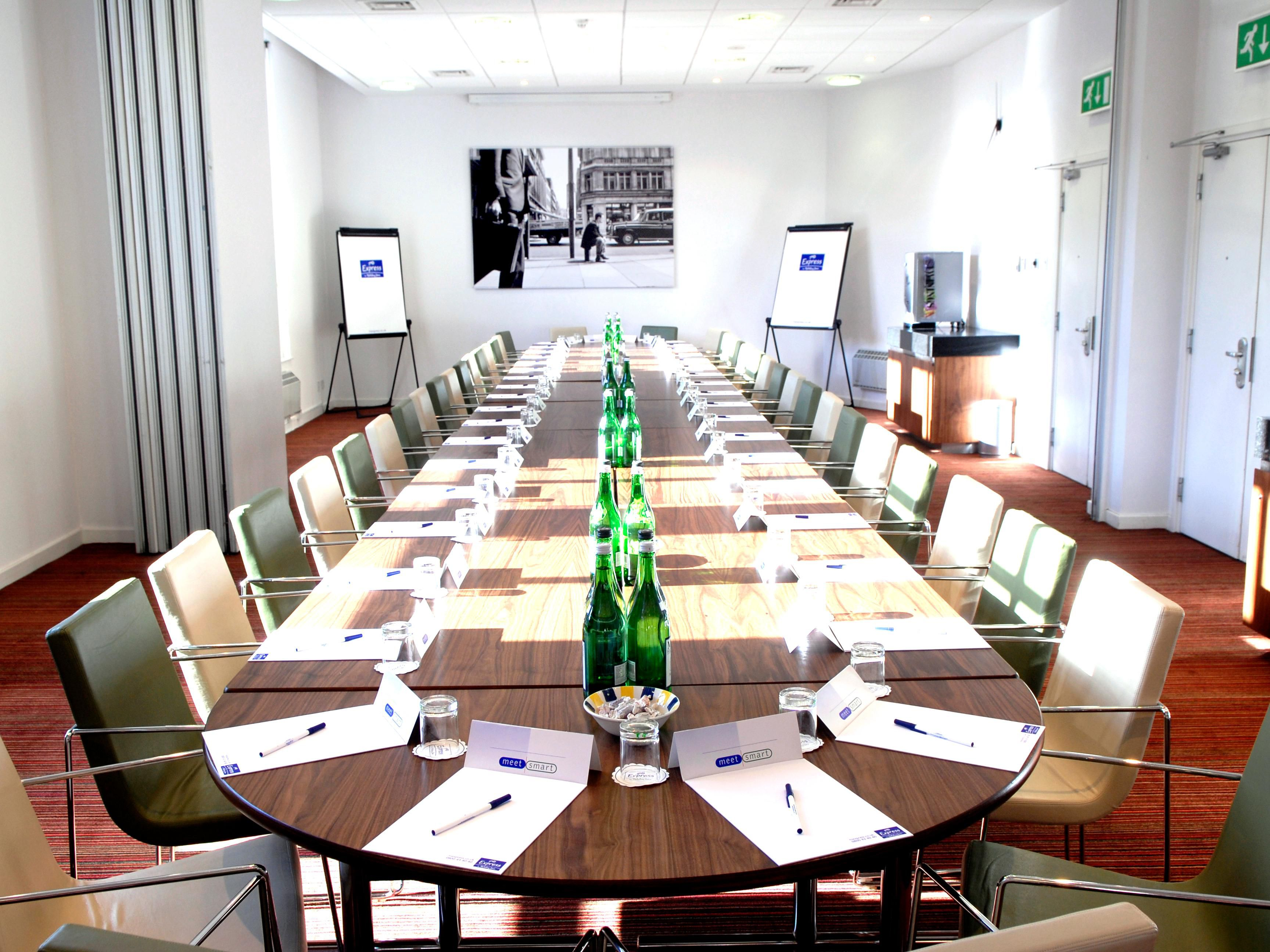 Old Street & Fenchurch rooms opened up in Boardroom layout