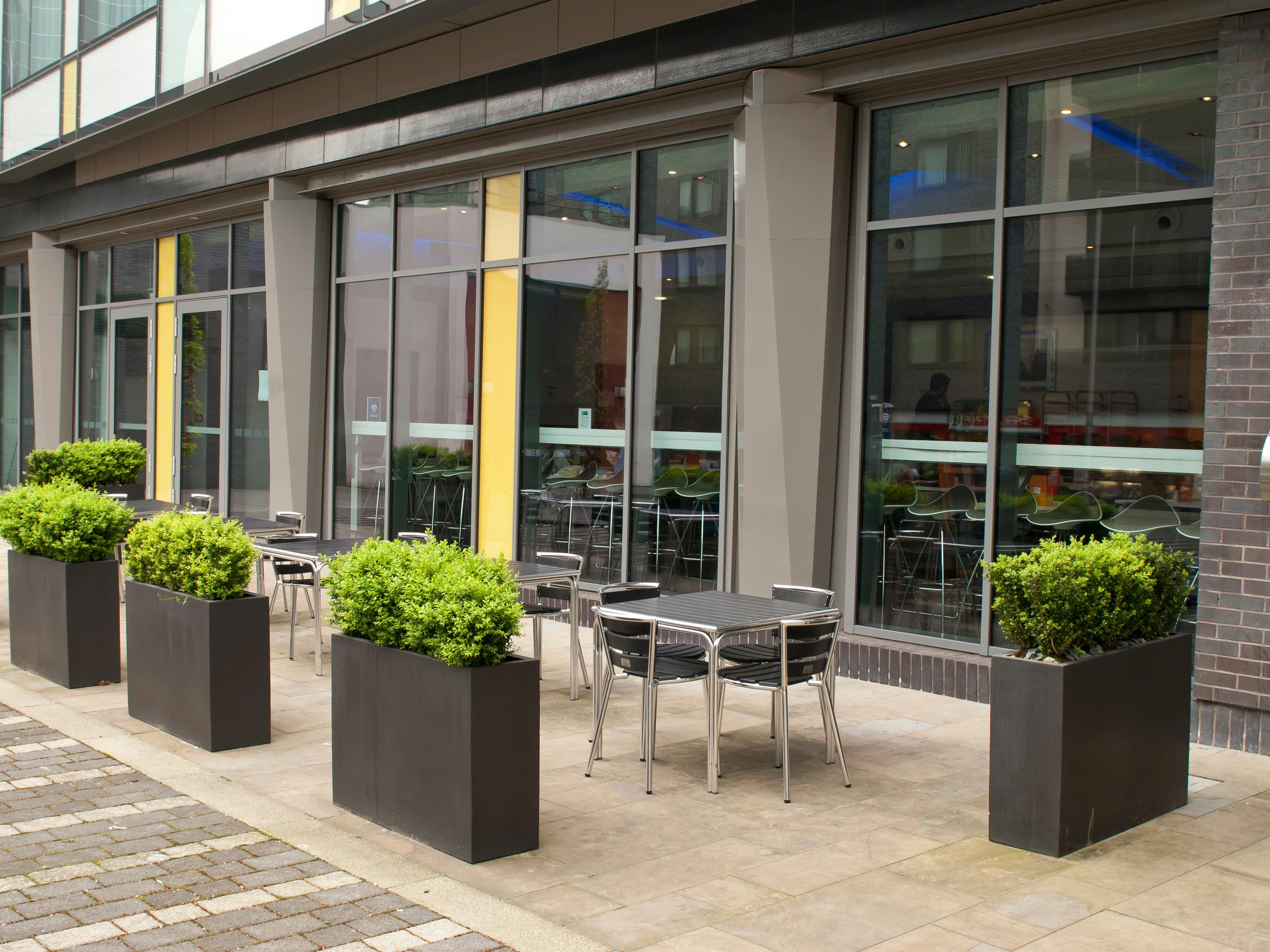 Outdoor patio at Holiday Inn Express Manchester Arena