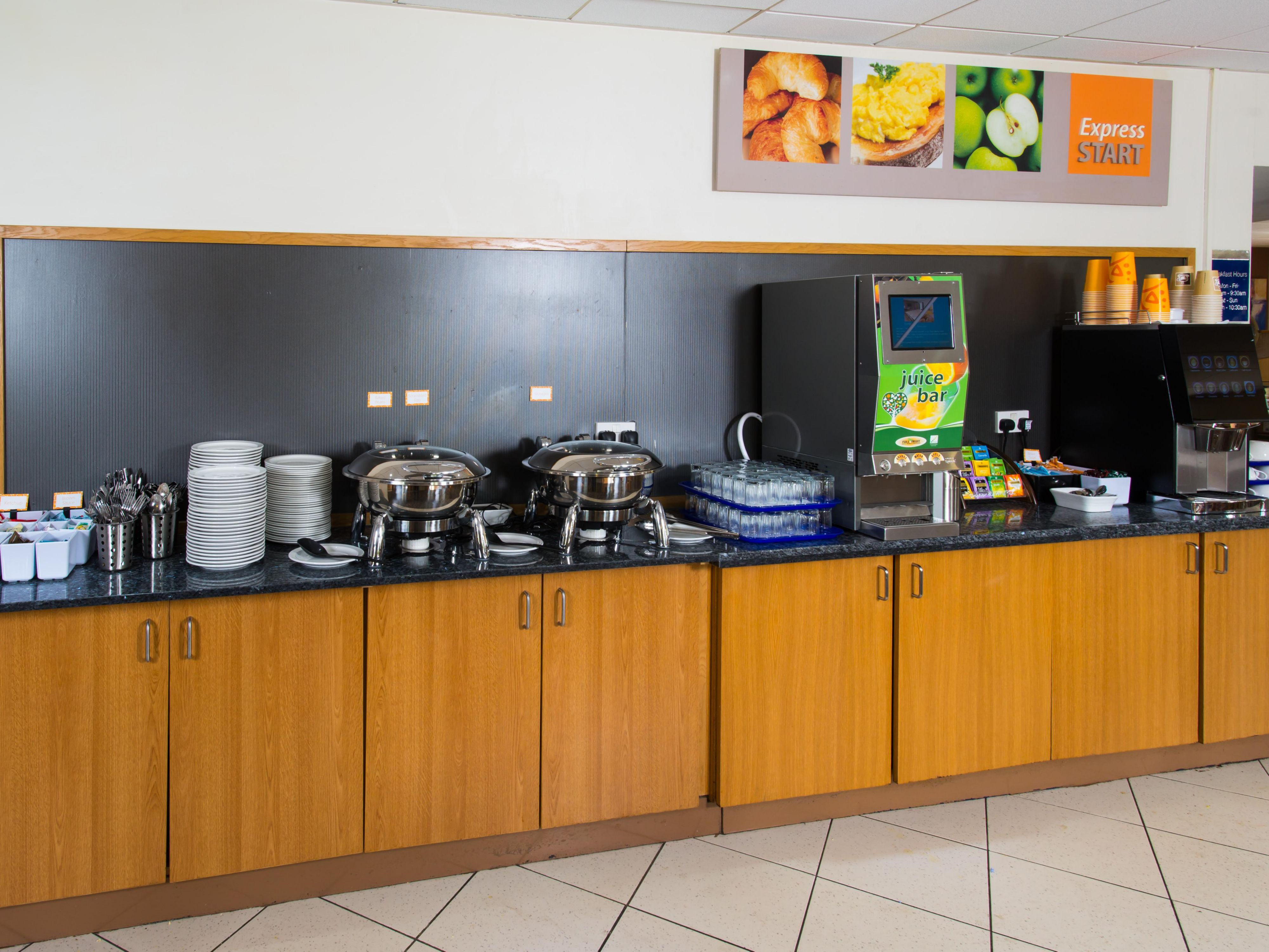 Wake up to an inclusive buffet breakfast at our Manchester hotel
