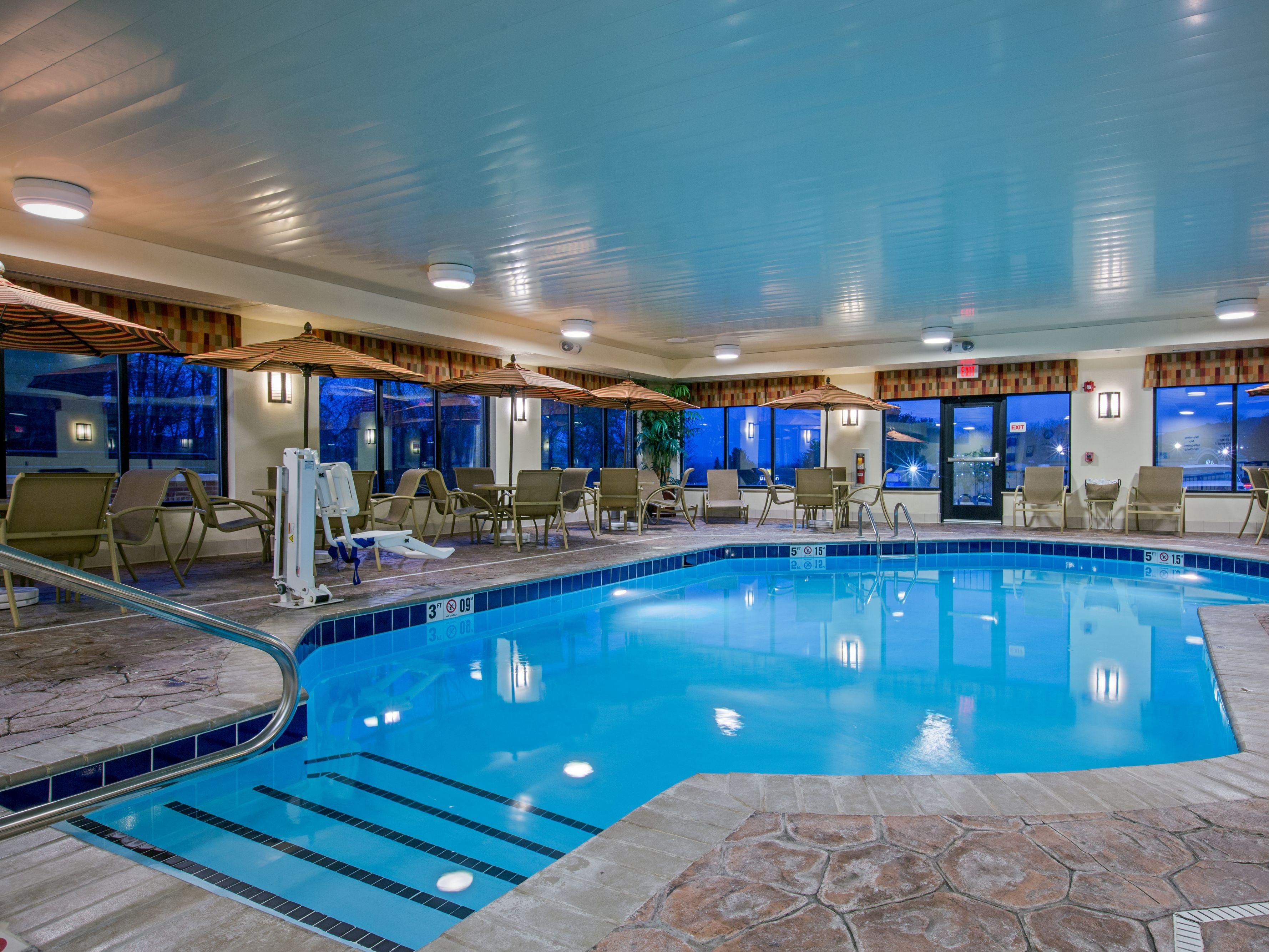 Our indoor Swimming Pool is equipped with ADA/Handicapped lift