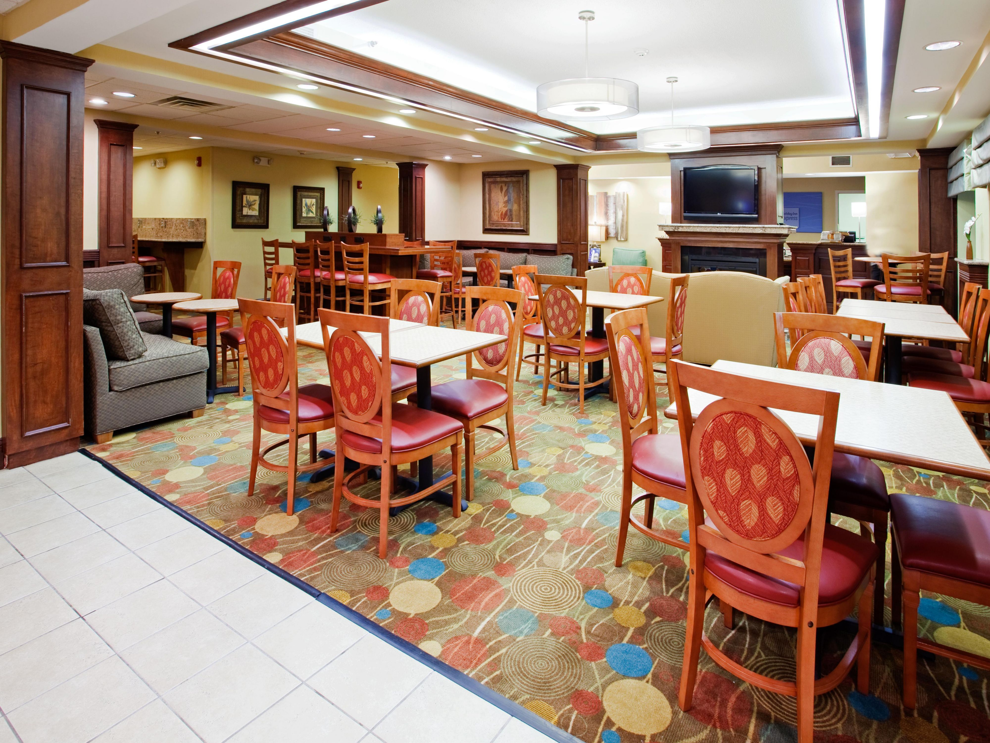 Enjoy your complimentary breakfast in our dining area