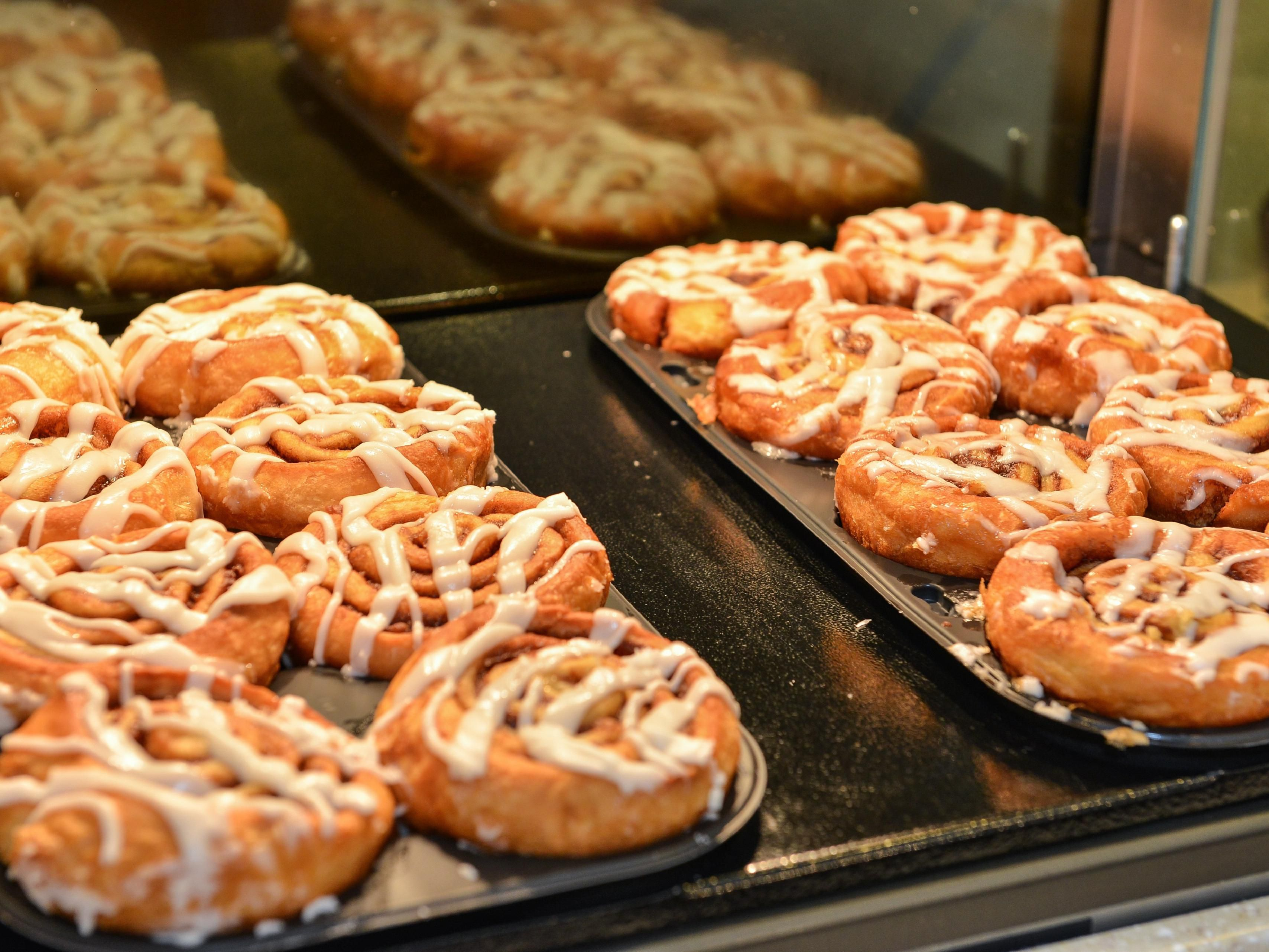 Our signature warm cinnamon rolls are served daily!