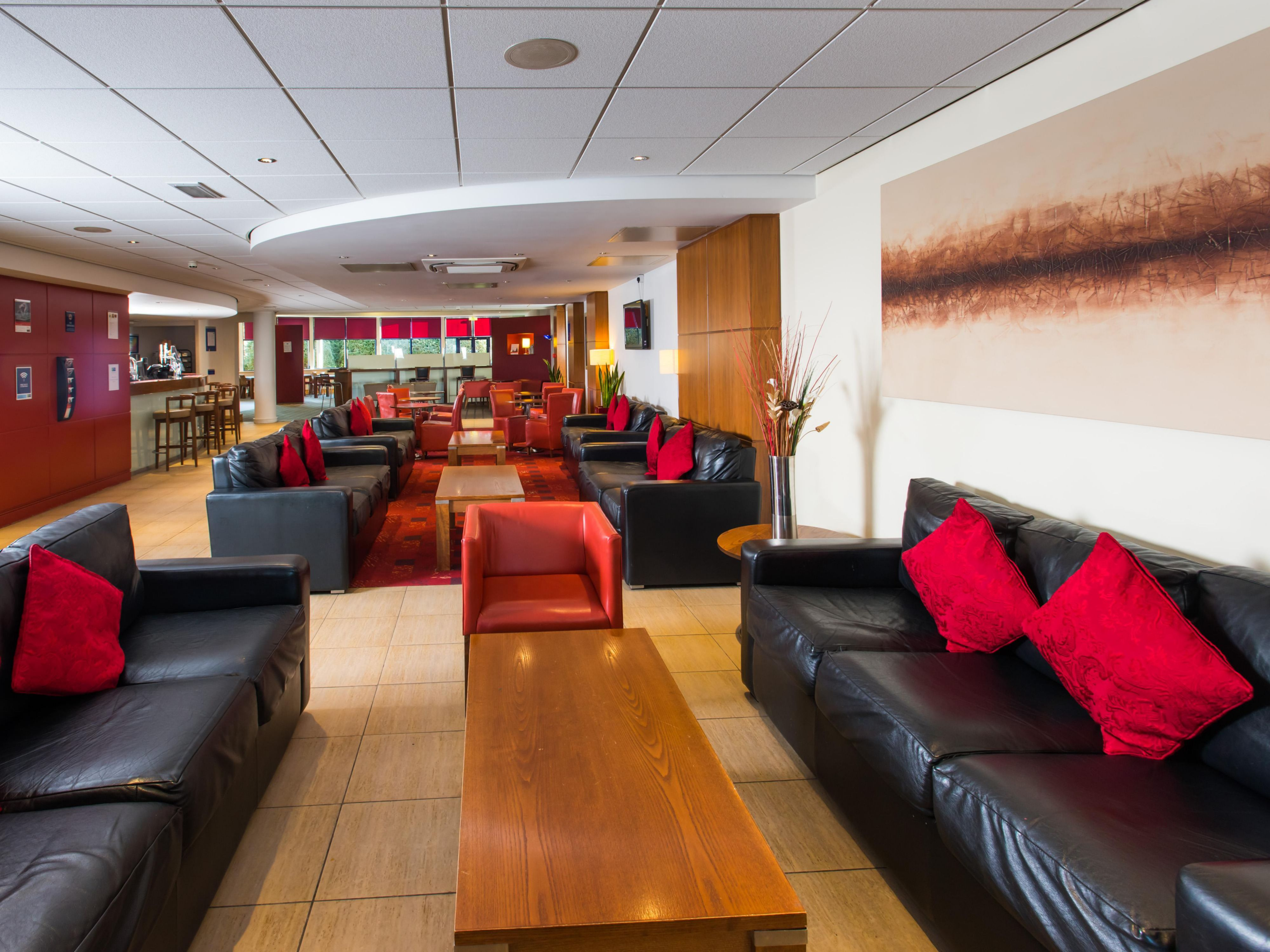 Catch up with friends in comfy seats in our lobby