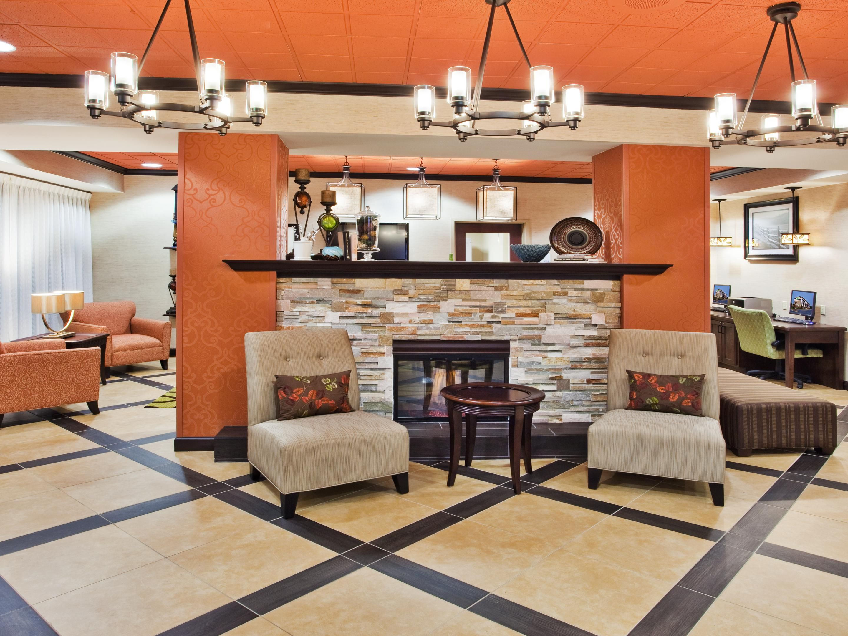 Our lobby is sure to make you feel right at home.