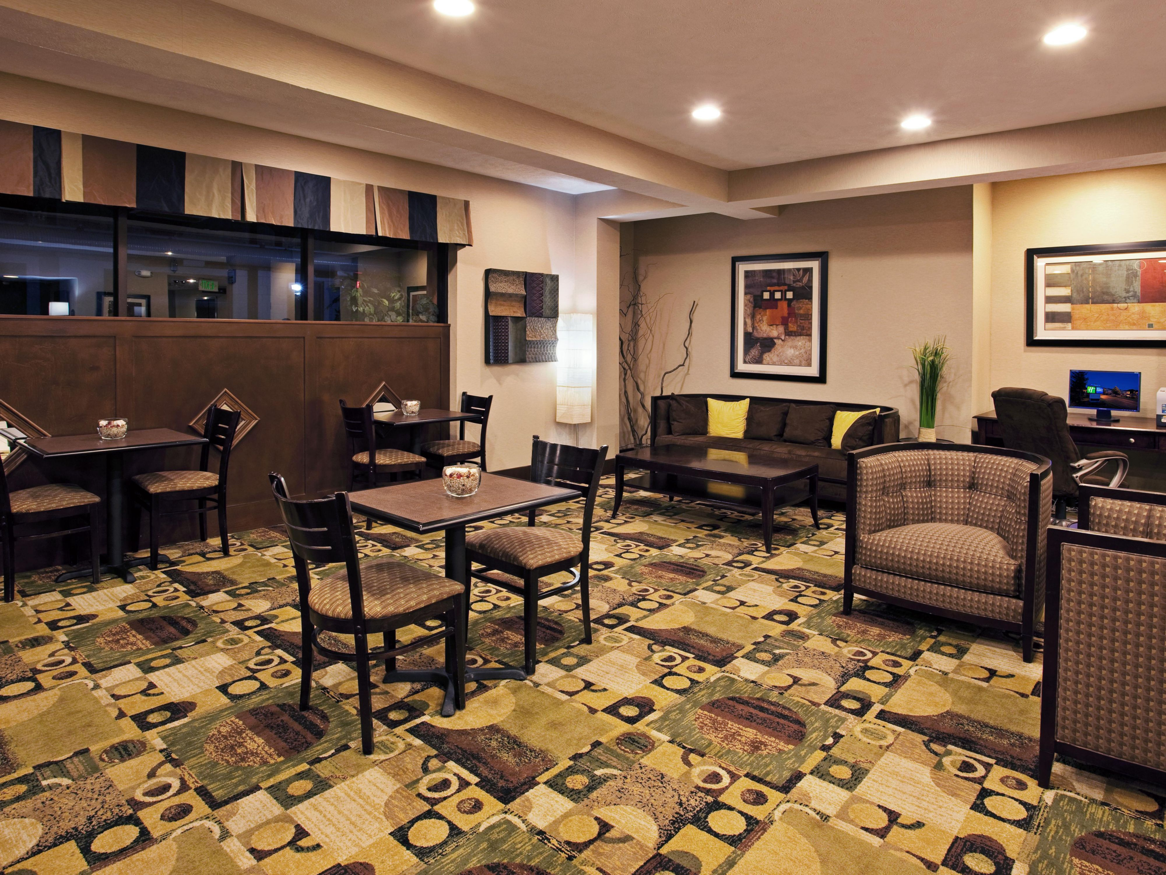 Unwind and watch some TV in our spacious lobby