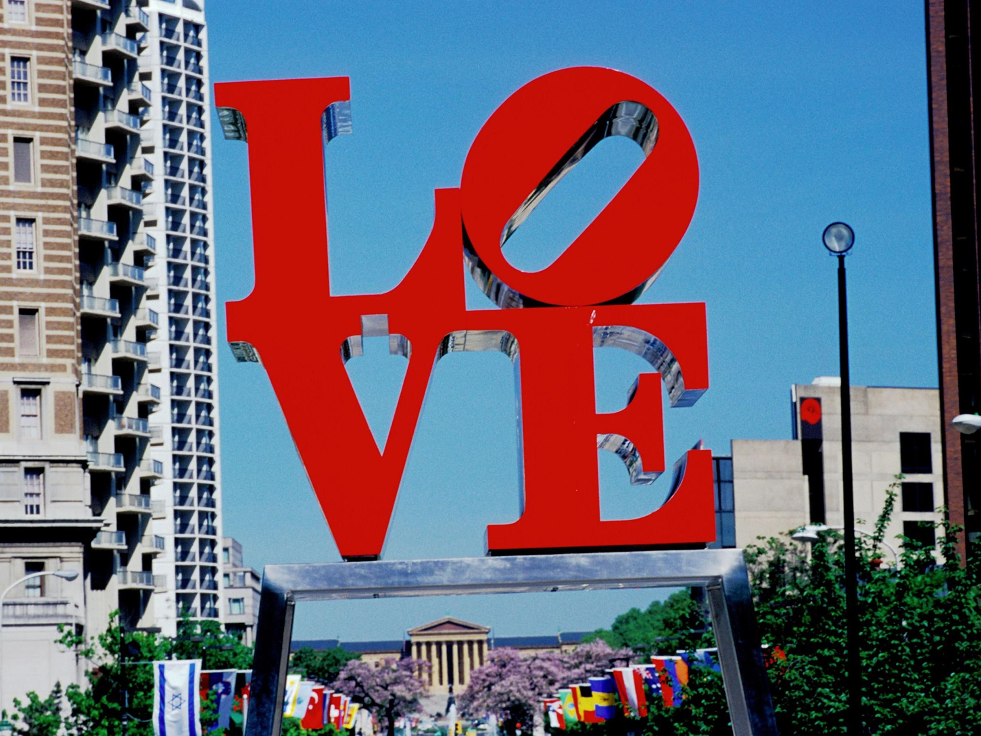 We are only 4 blocks away from Love Park!