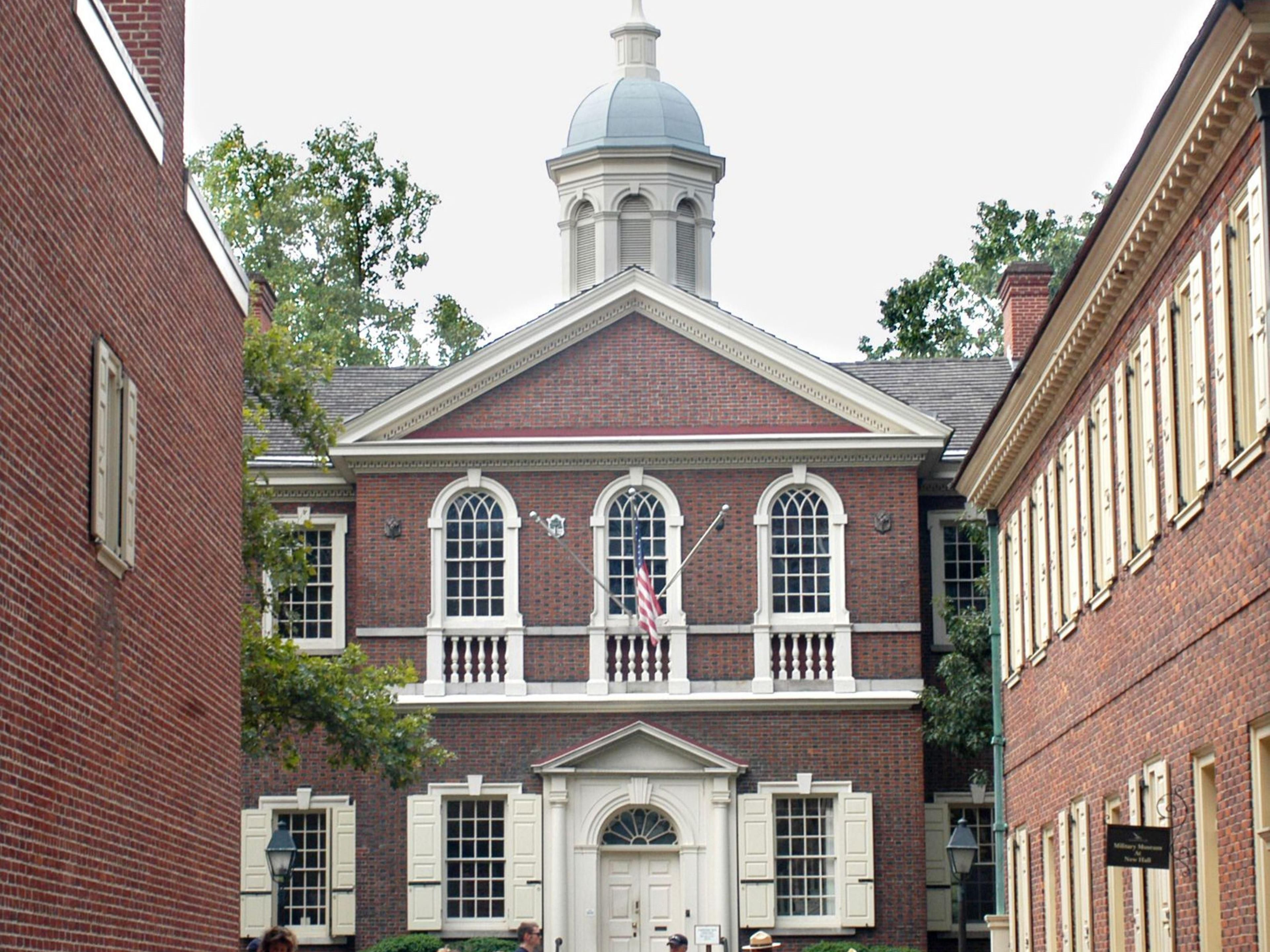 Carpenters' Hall is only 8 blocks away, near the Liberty Bell.