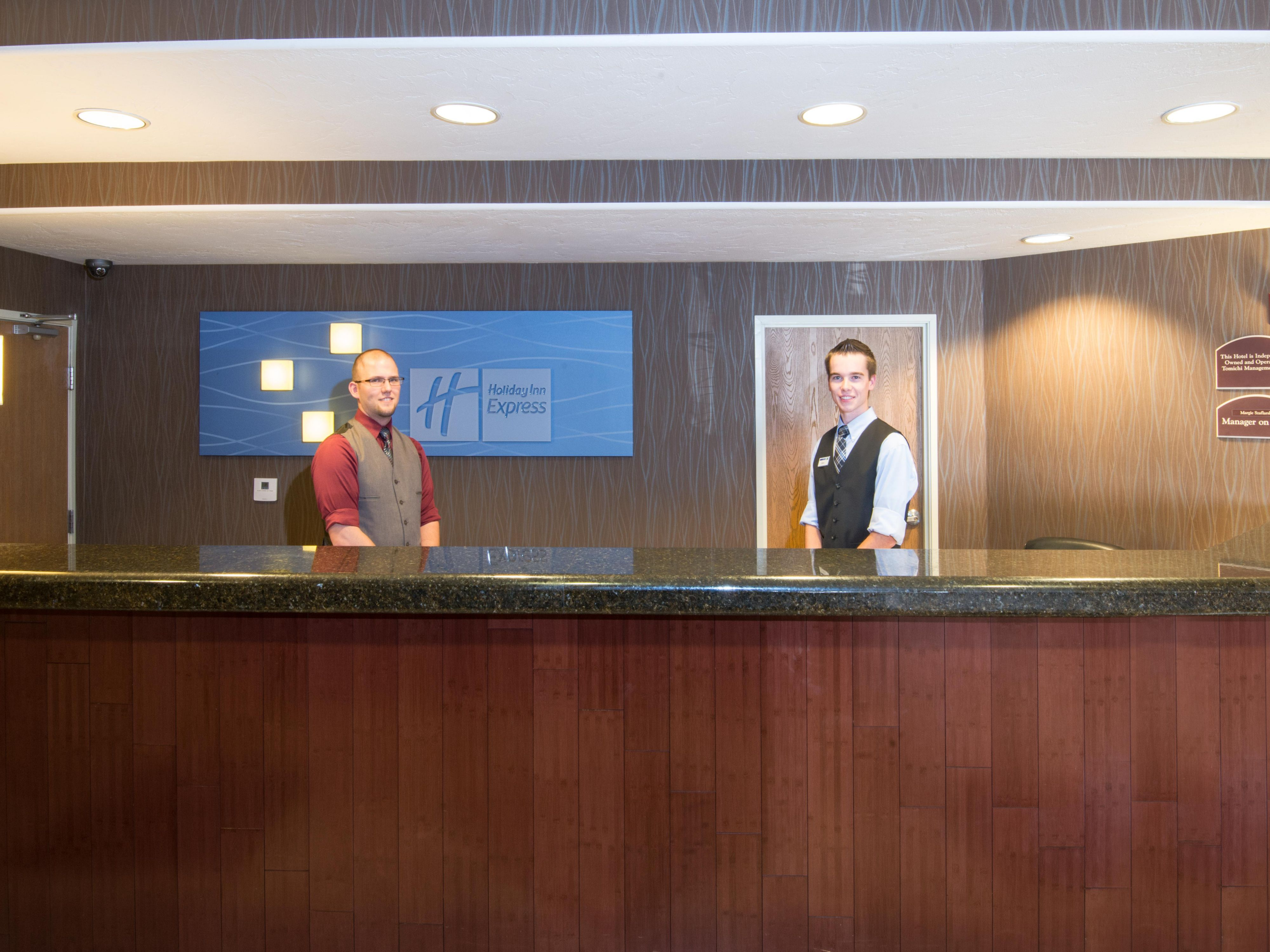 Our Front Desk staff is here to assist you during your stay