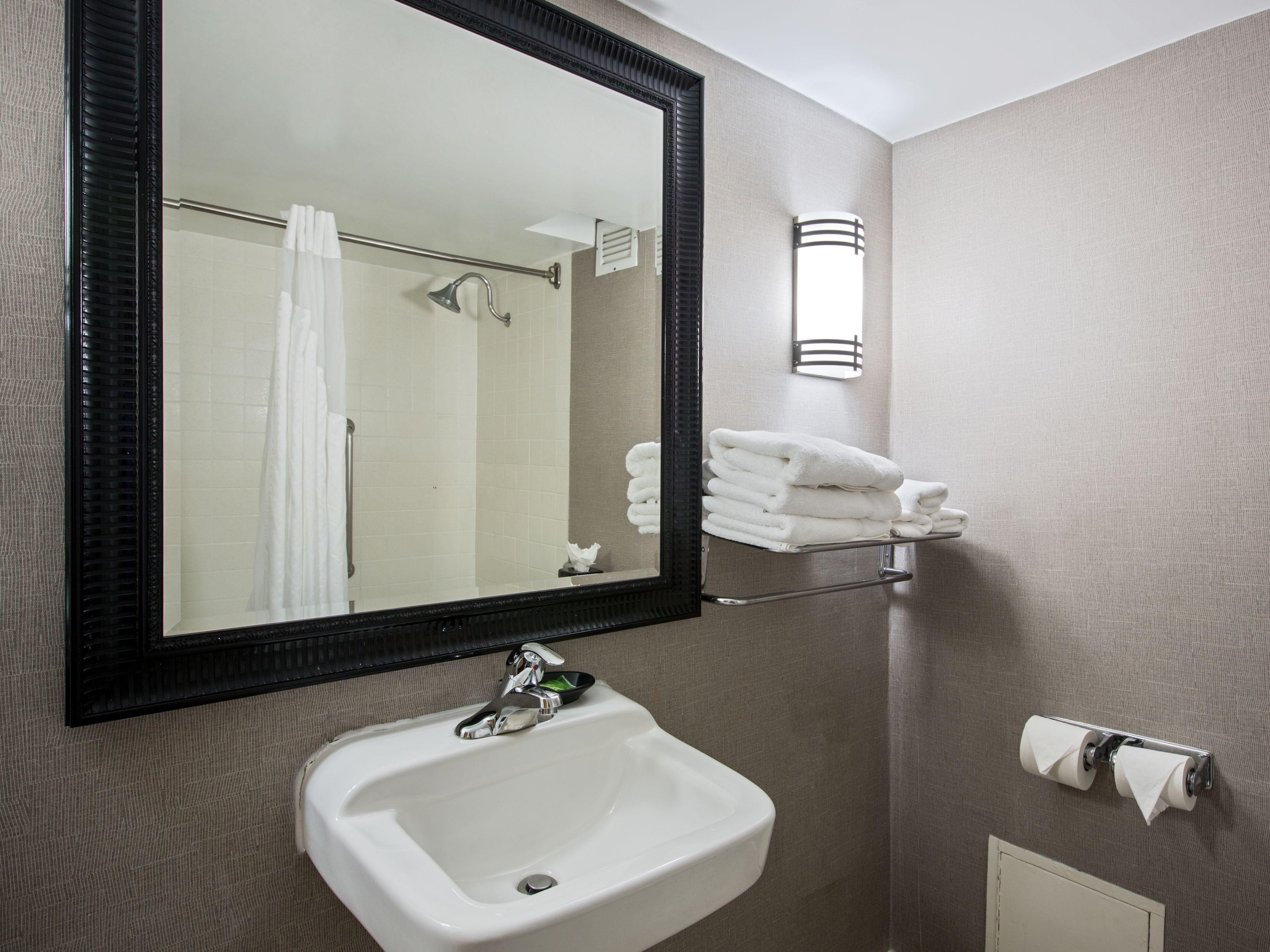 Efficient ADA Handicapped Bath with Roll-In Shower