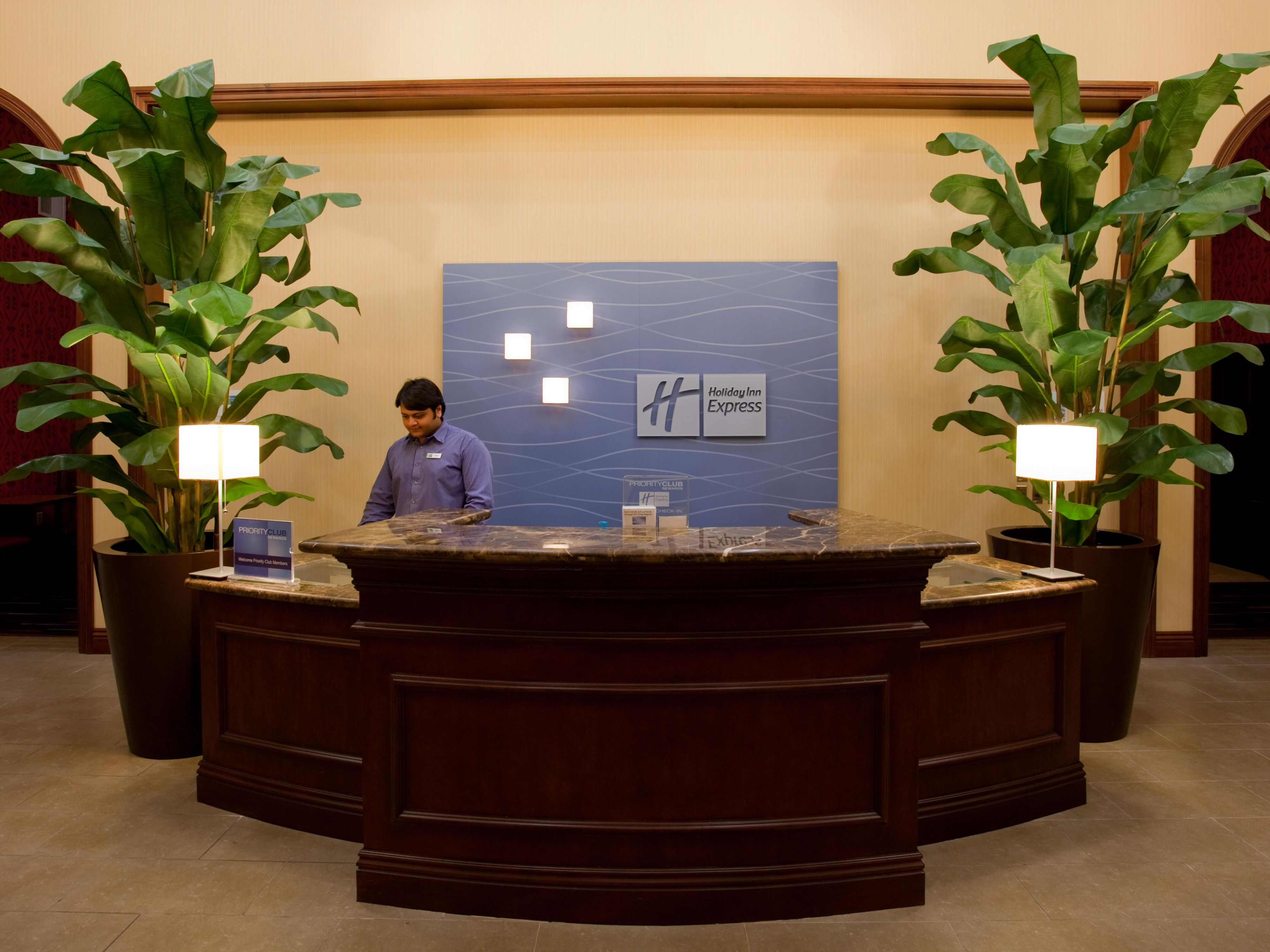 Our Front Desk is waiting to give you friendly service