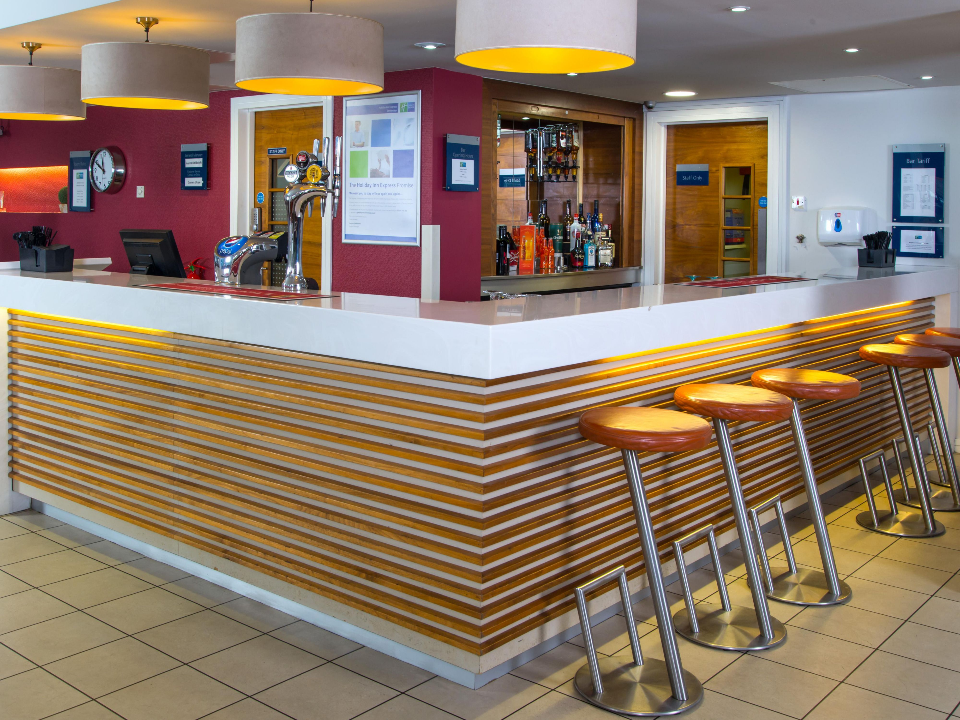 Our bar located in Reception is open throughout the day for you