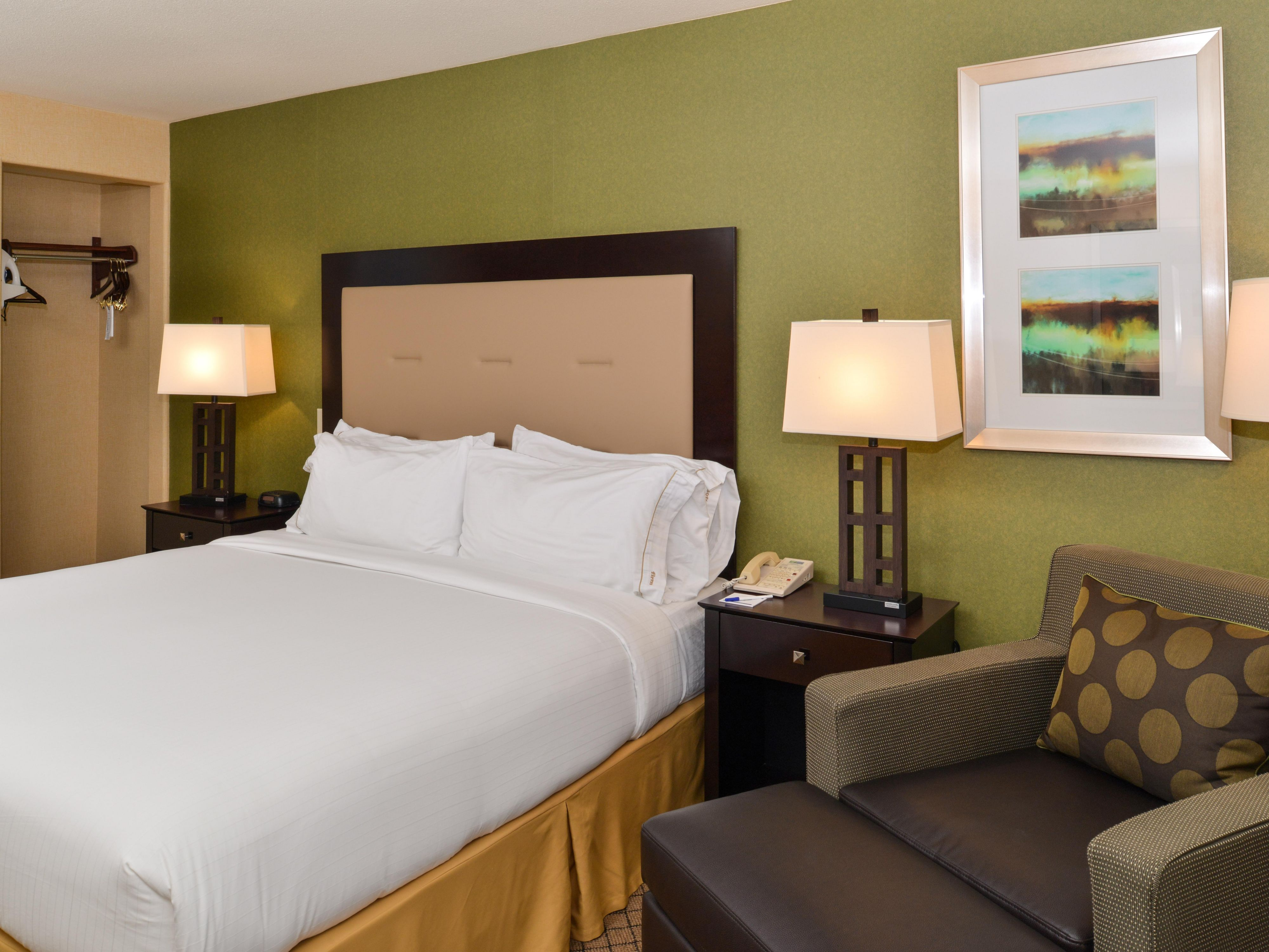Sacramento Airport Holiday Inn Express Woodland King Guest Room