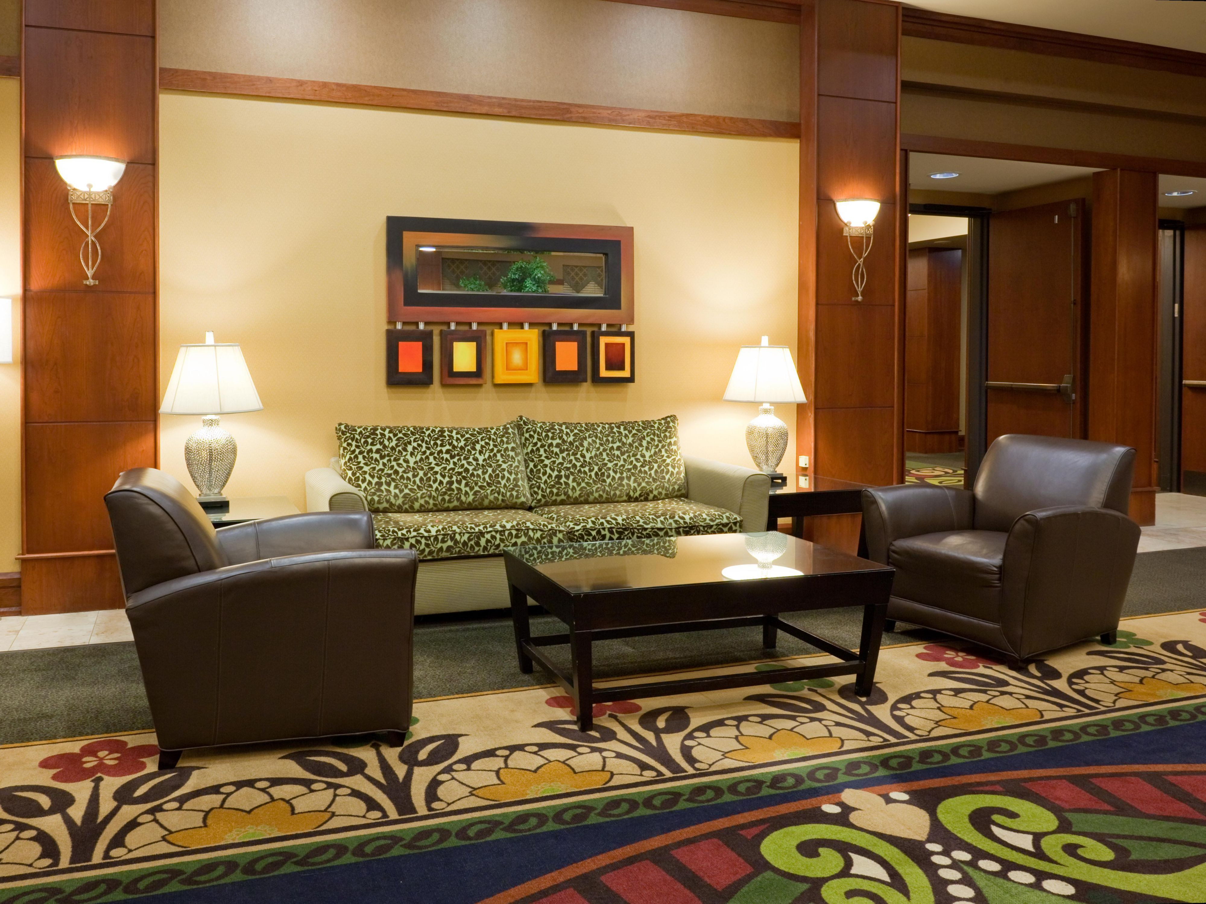 Relax in our lobby or in your room.  We're happy to have you here.