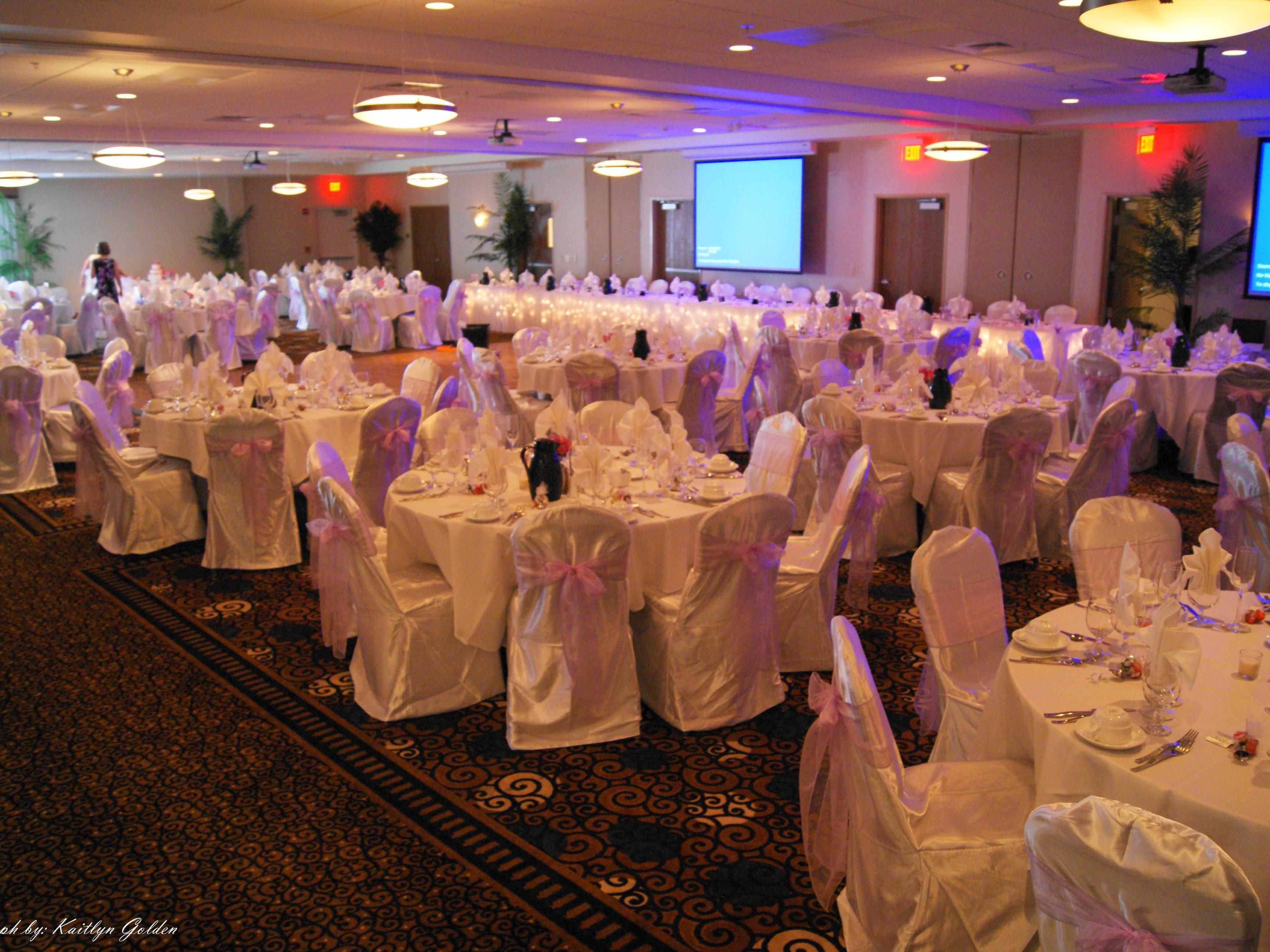 Three ballrooms combined as one for a larger scale wedding