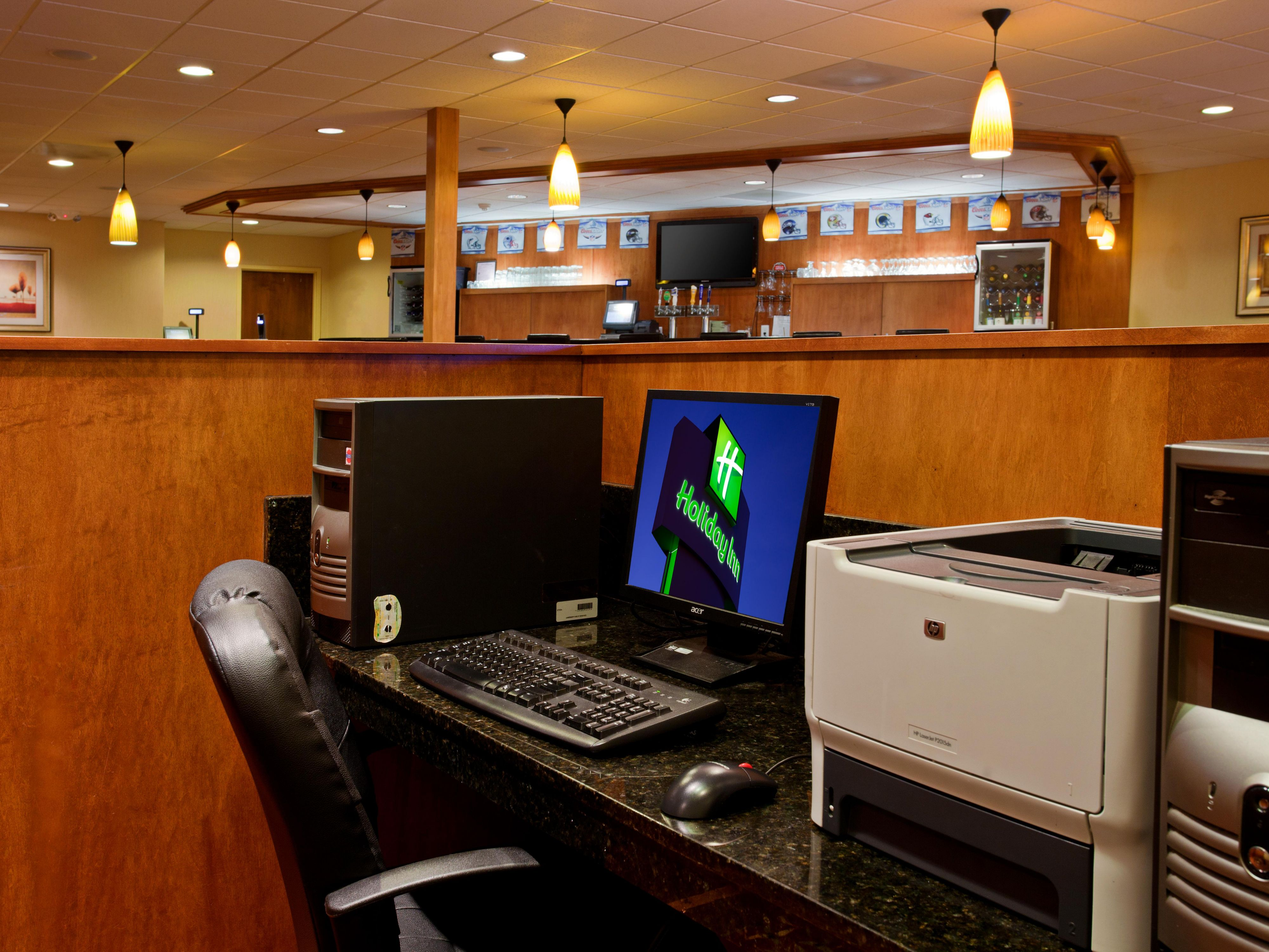 Business Center located in our lobby and available 24 hours a day