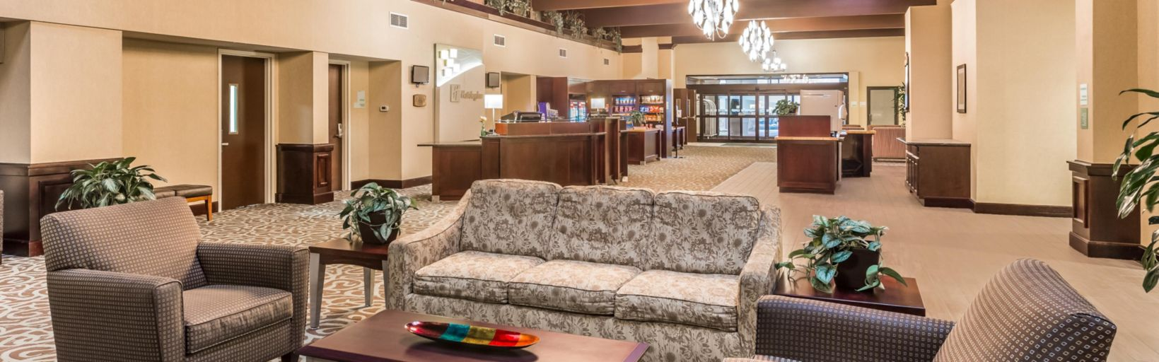 Hotel Lobby Has A Warm Midwest Lodge Feeling