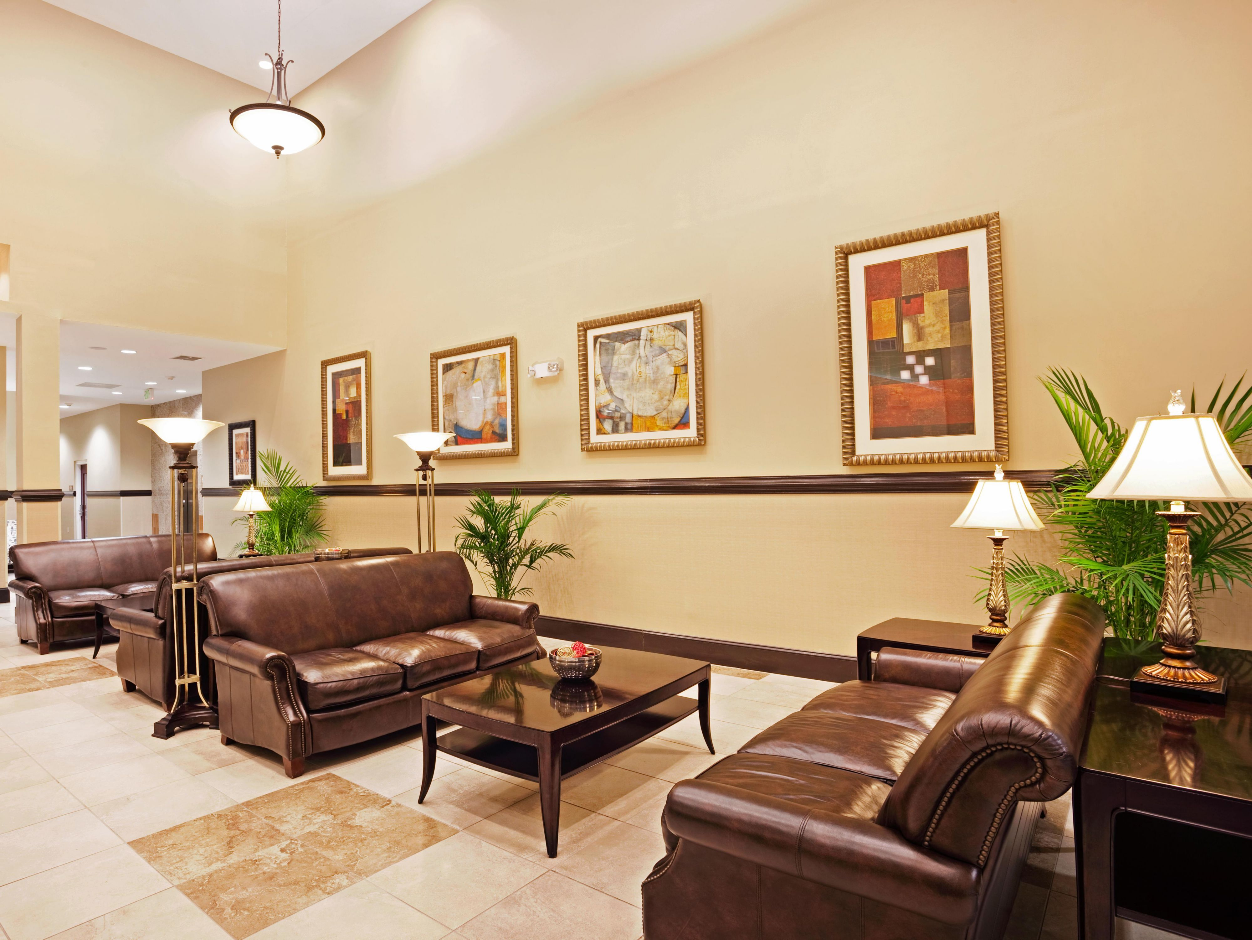 Relax in our spacious hotel lobby