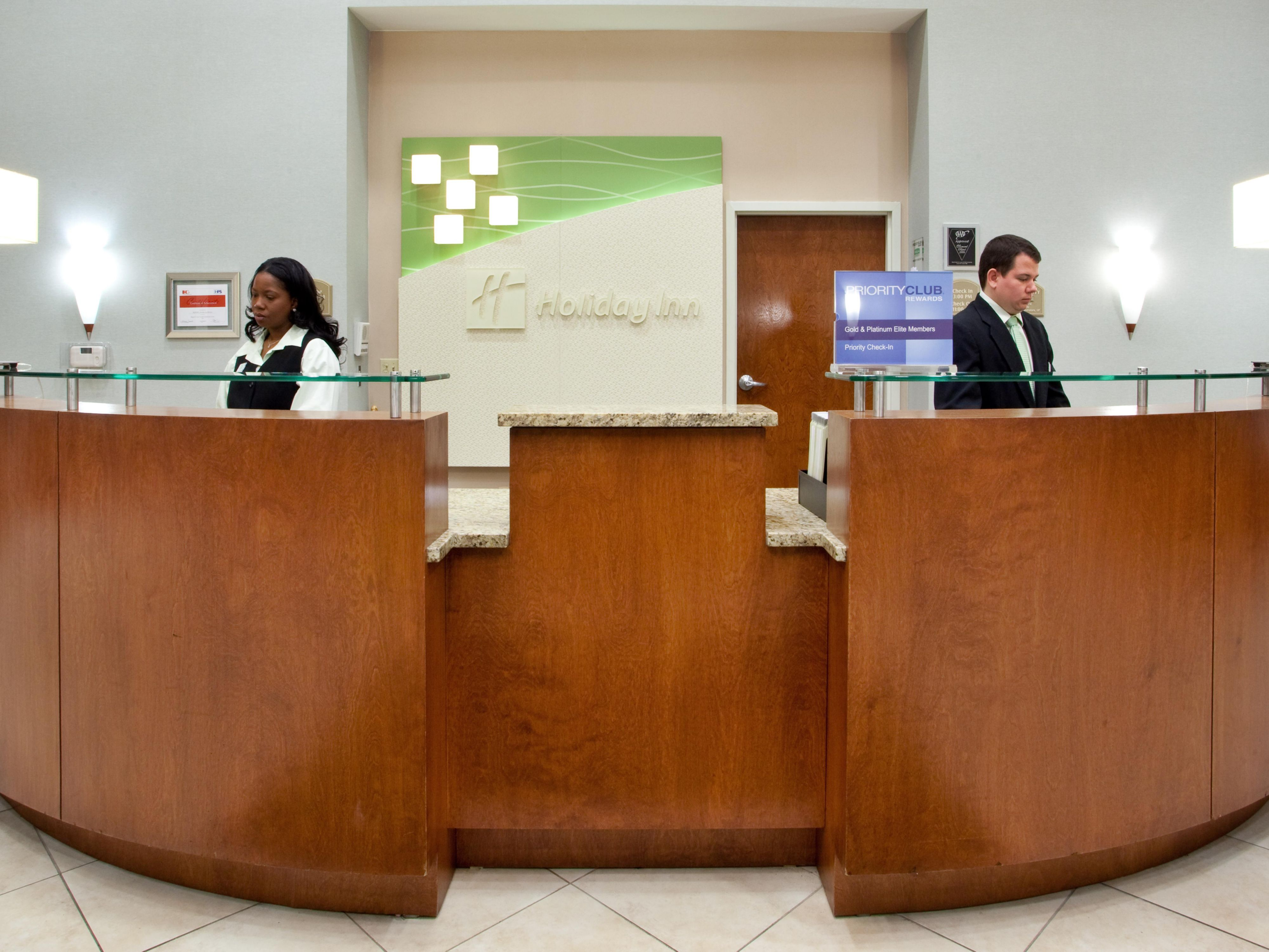 Our front desk is ready to serve you.