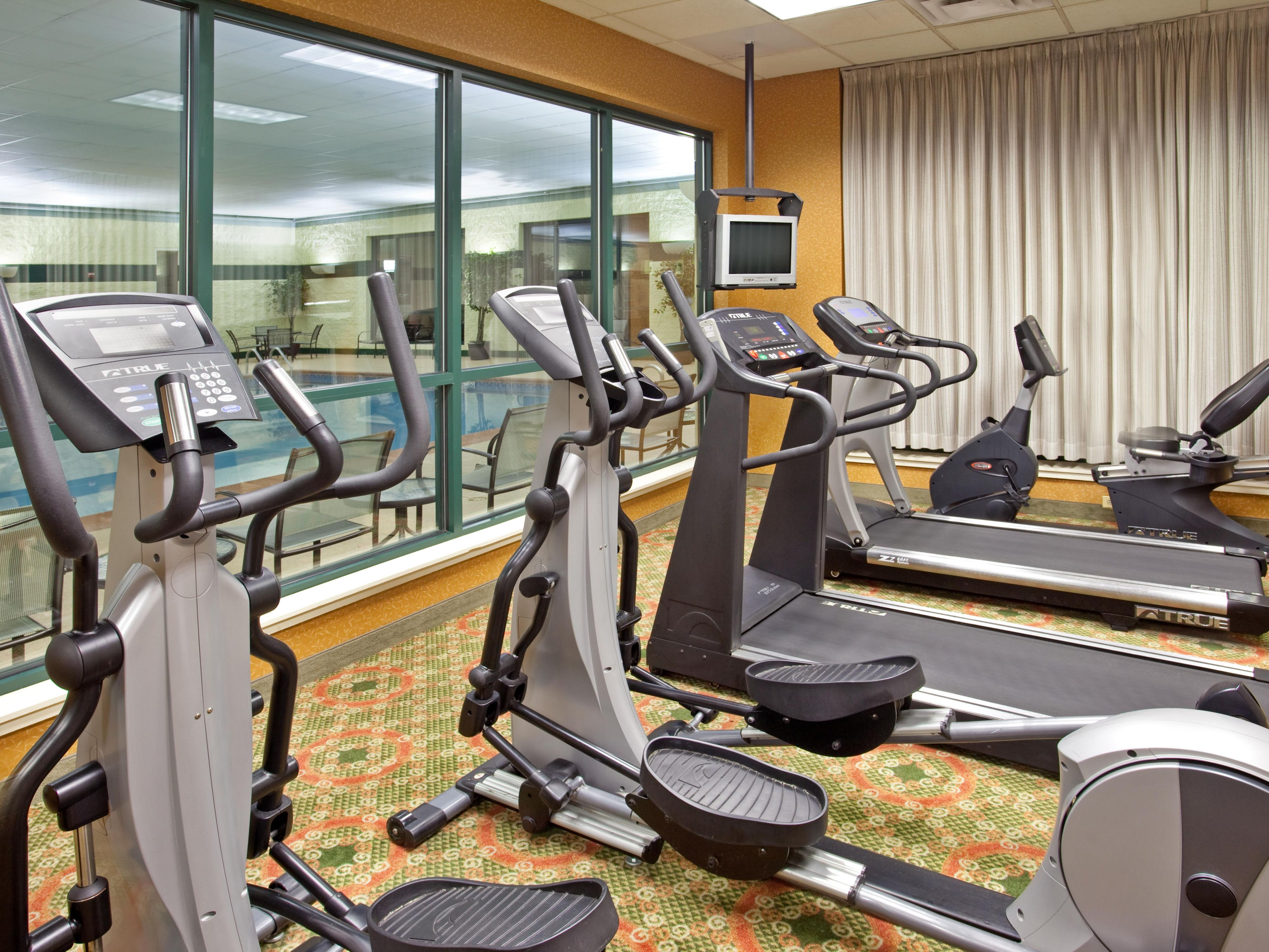 Hotel Fitness Center complimentary for guests at Holiday Inn Hotel