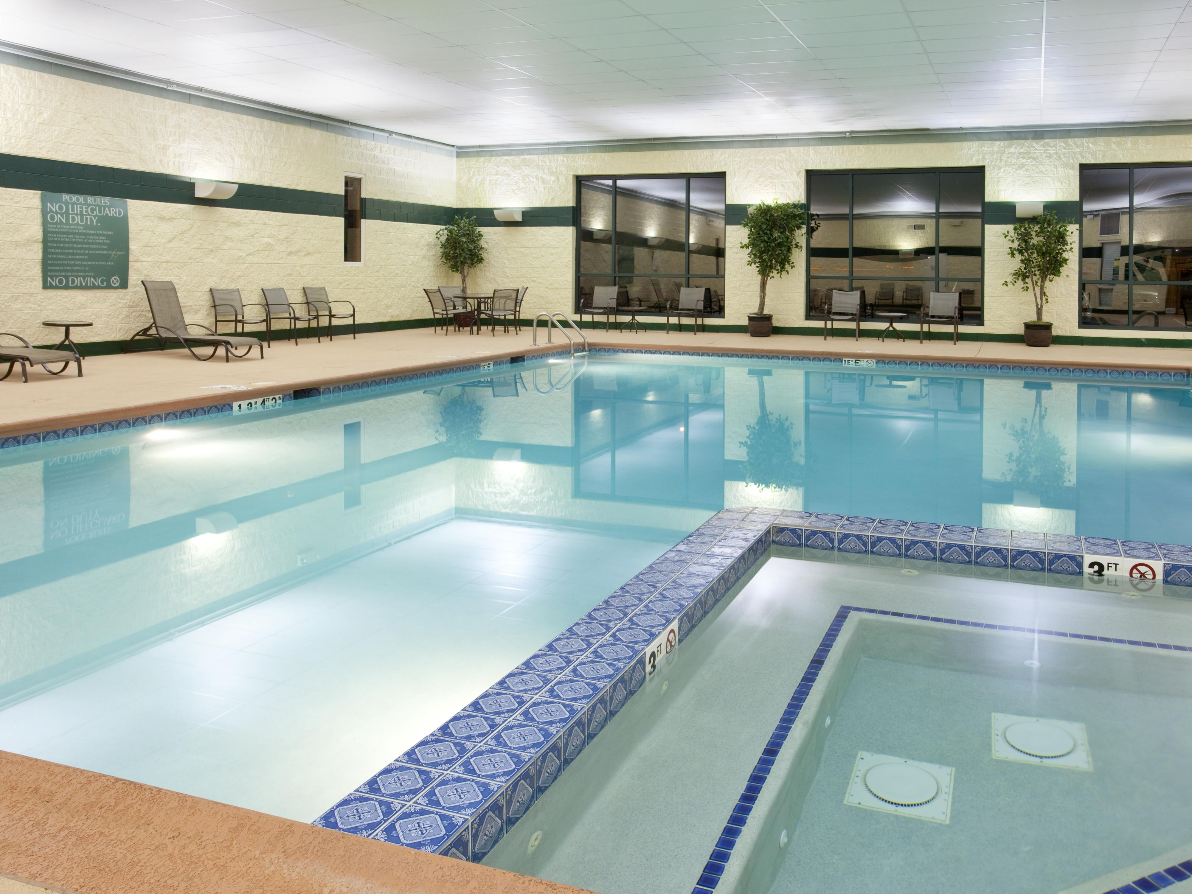 The Bolingbrook area's largest indoor hotel pool