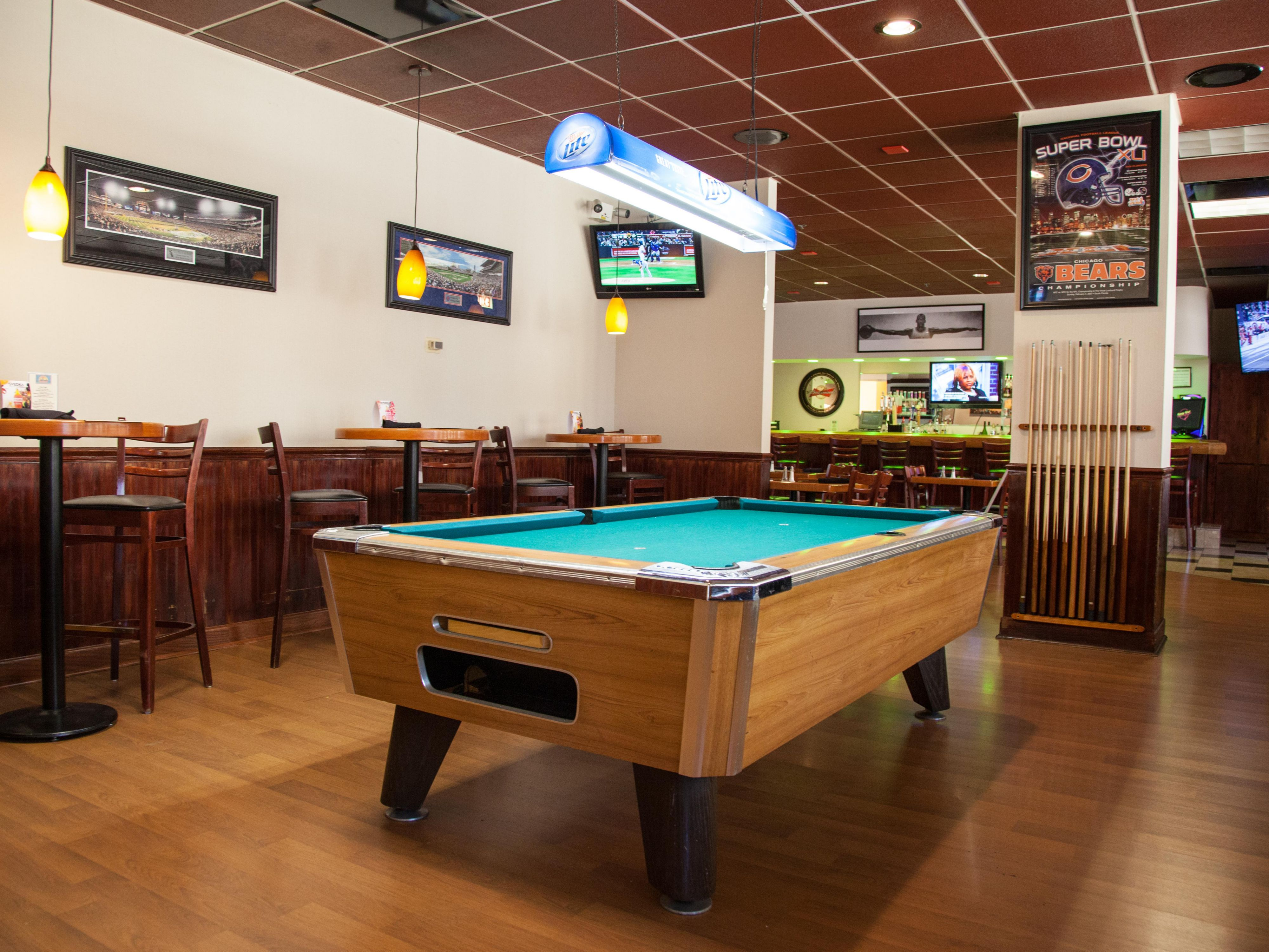 Come shoot some pool at the Sunny's Bar and Grill