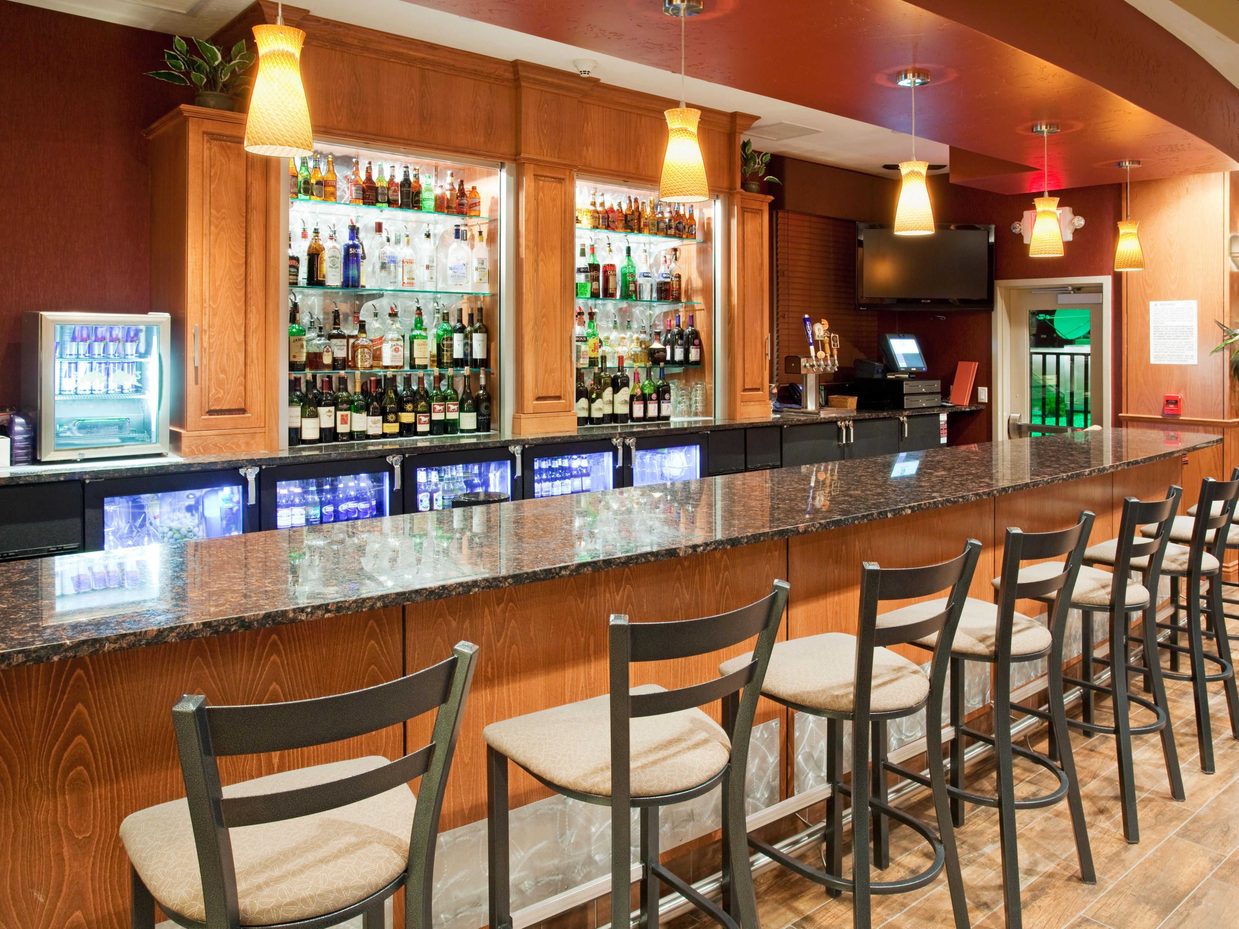 Enjoy a glass of wine at the Grand Valley Grill