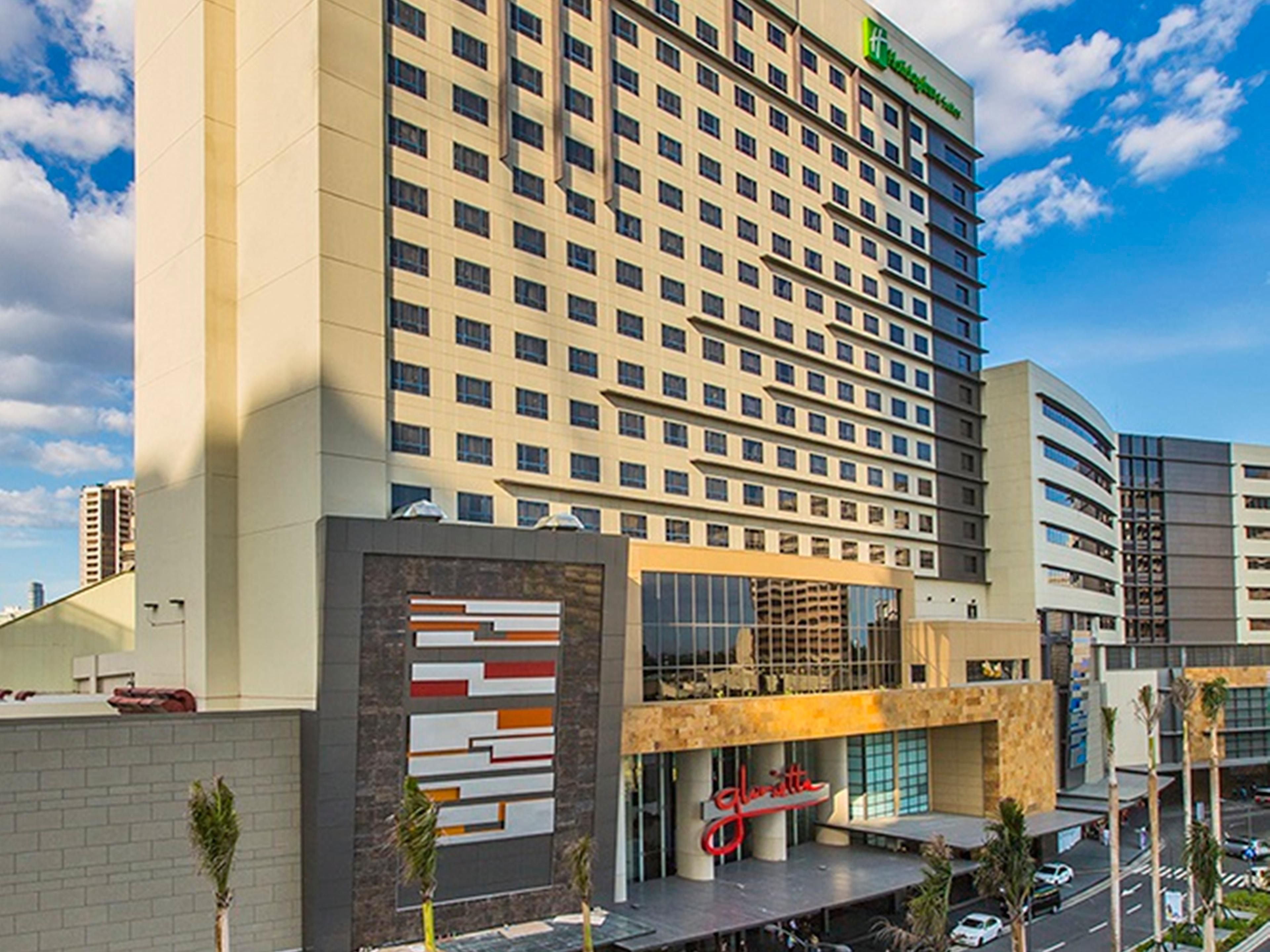 The hotel is directly connected to Glorietta Mall