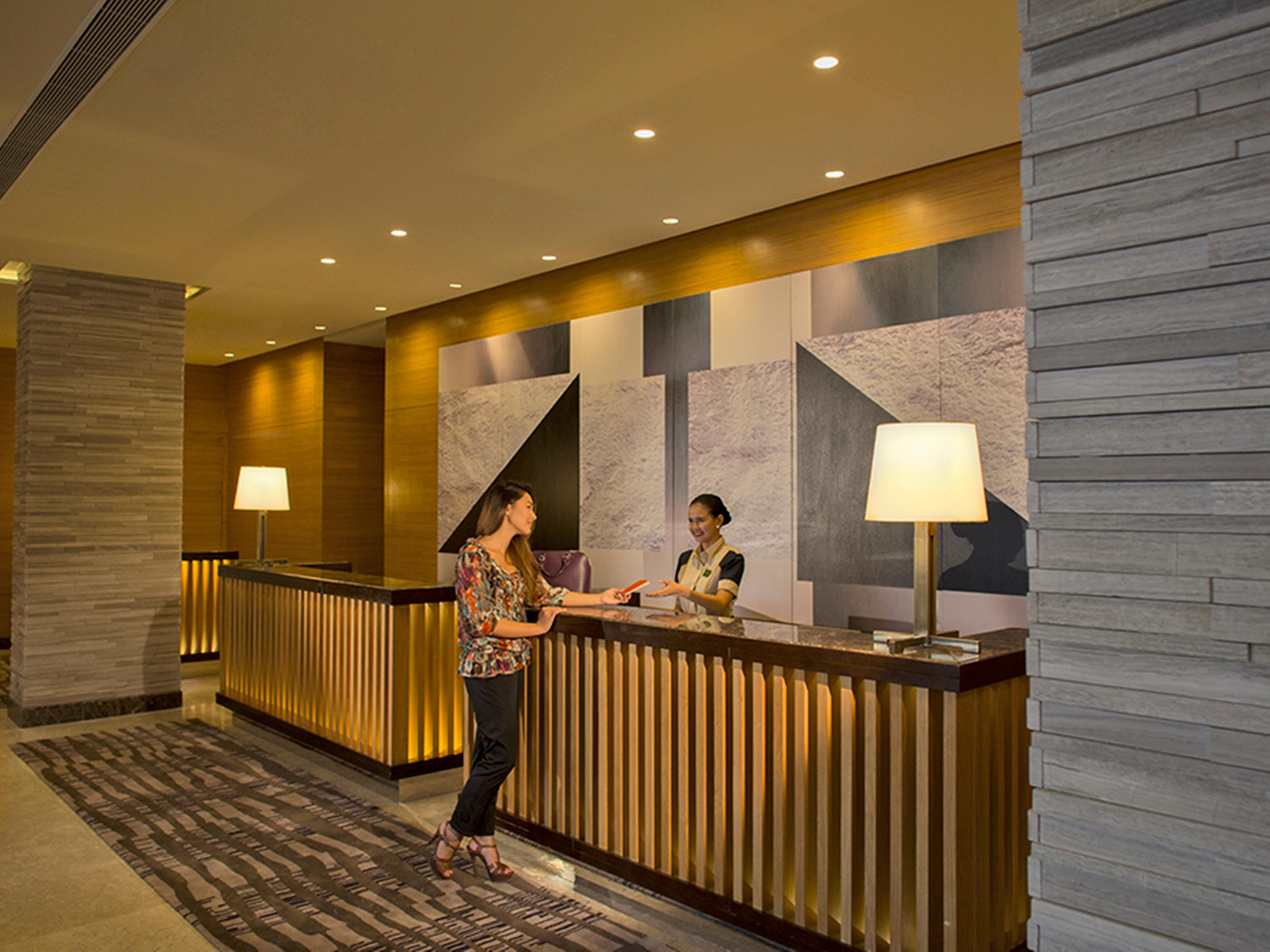 Be welcomed by our friendly Front Desk staffs when you check-in